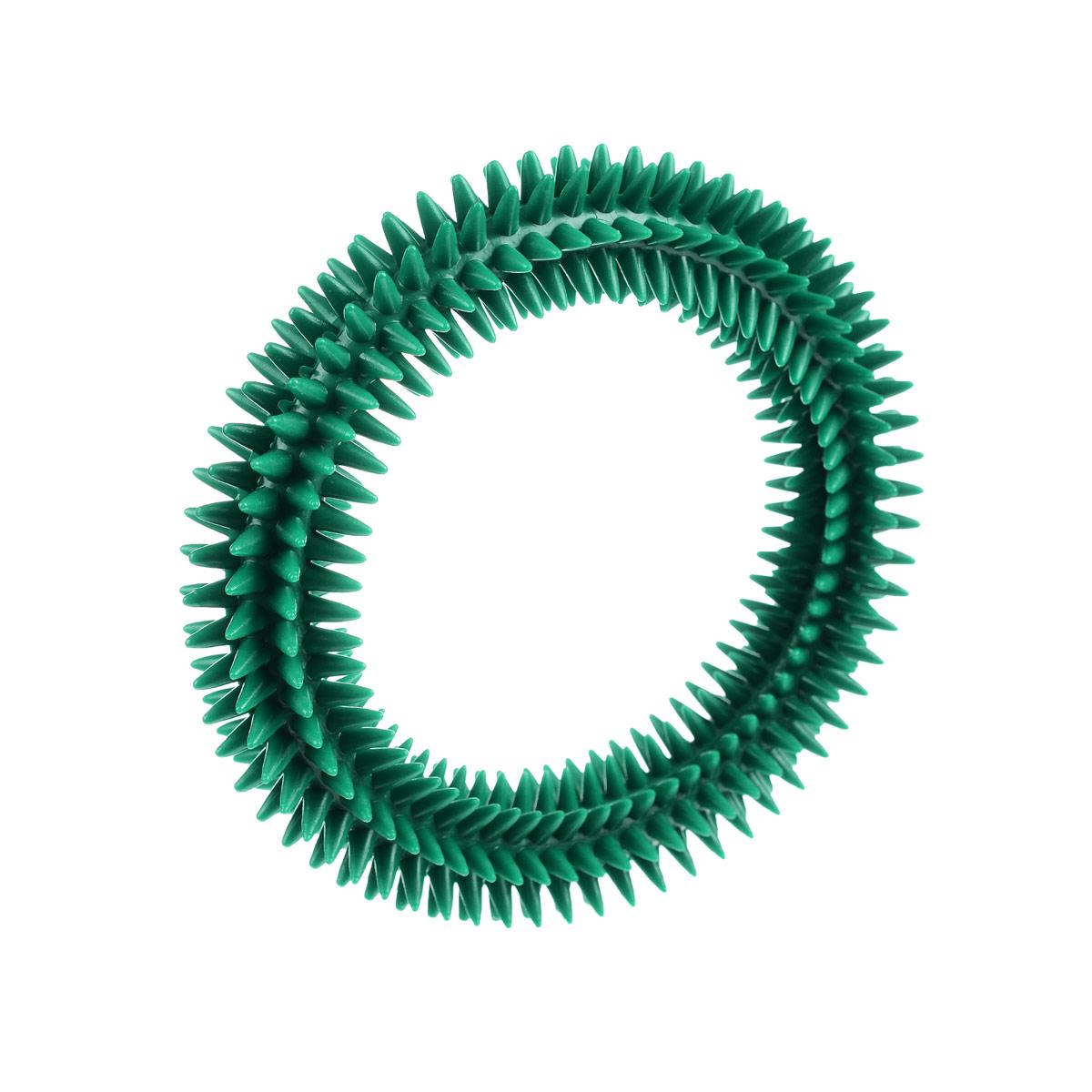 """Кольцо массажное с шипами """"V.I.Pet"""", цвет: зеленый, диаметр 12 см"""