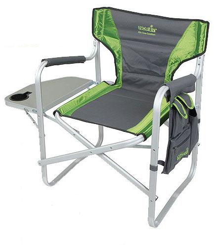 Кресло складное Norfin Risor NF Alu, цвет: серый, зеленый, 47 см х 42 см х 80 см кресло складное kingcamp director delux kc3811 цвет черно серый