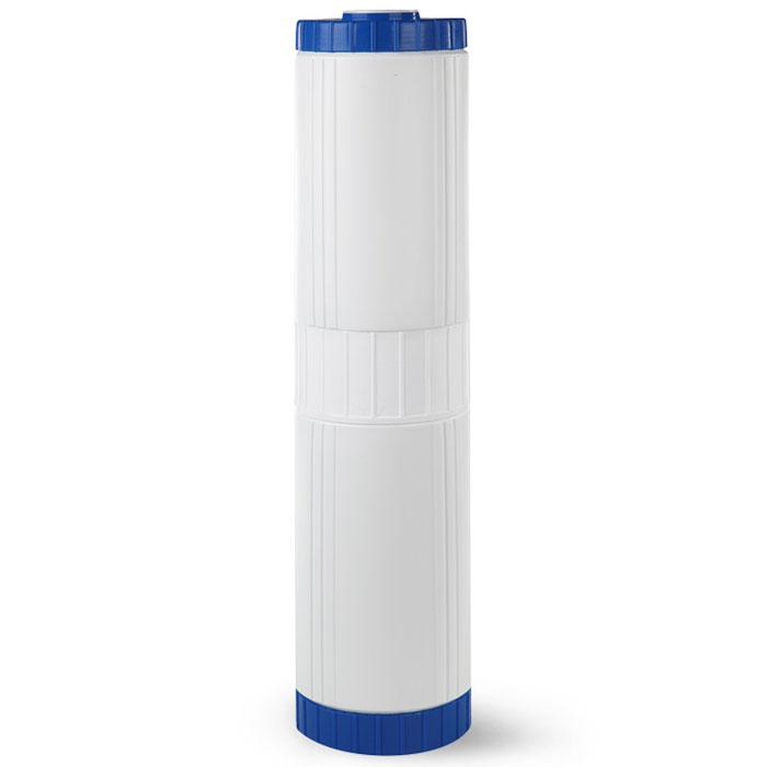 Картридж Гейзер БА 20ВВ.   Используется для эффективного удаления избыточного растворенного железа (до 1 мг/л) и  соединений других металлов методом каталитического окисления.  Фильтрующая загрузка –  природный материал Кальцит.   Подходит для корпусов стандарта 20ВВ (Big Blue) любых производителей.   Ресурс до 10000 л. (при содержании растворенного железа 1 мг/л).