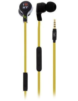 TNB ESLIVENY, Yellow Black наушникиESLIVENYНаушники TNB Liven New York Earphones (ESLIVENY) порадуют всех любителей необычного стильного дизайна. Благодаря мягким резиновым амбушюрам из тонкого материала, наушники удобно вкладываются в уши, а также отлично сочетаются с MP3 плеерами, смартфонами. Данная модель - это лучший выбор для тех, кто хочет слушать музыку в мобильных условиях. Кроме того, хорошая звукоизоляция оградит Вас от посторонних шумов и обеспечит чистый, сбалансированный звук, которым можно наслаждаться в любой обстановке.