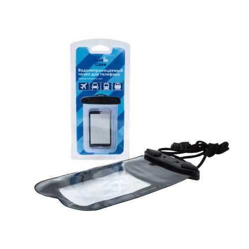 Водонепроницаемый чехол для телефона JustinCase, цвет: прозрачный. G5134Z10 blackВодонепроницаемый чехол для телефона JustinCase обеспечит надежную защиту любой модели мобильноготелефона. Специально разработанный PVC материал позволит ответить на звонок не вынимая телефон из чехла.Материал чехла также проводит звук.