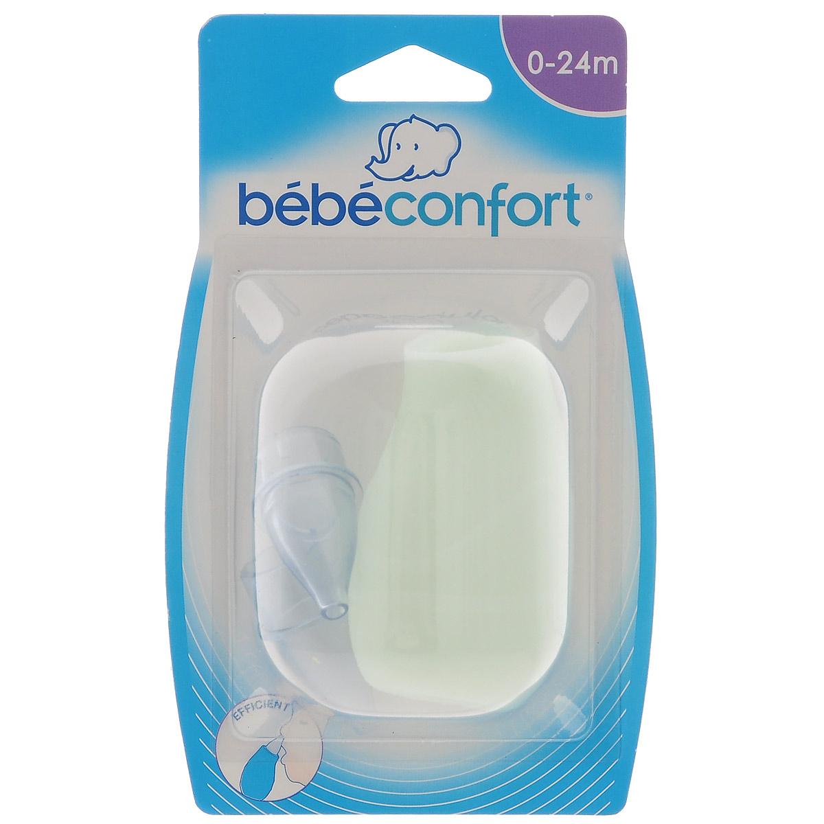 Аспиратор назальный Bebe Confort, с 2 накладками, цвет: светло-зеленый термометр bebe confort 2 в 1 32000142