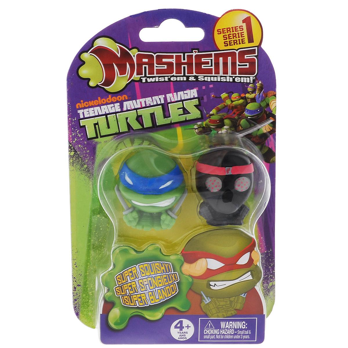 Игрушки-мялки Mash'Ems Черепашки Ниндзя nickelodeon игрушка детская черепашки ниндзя игрушки мялки 6 шт в наборе