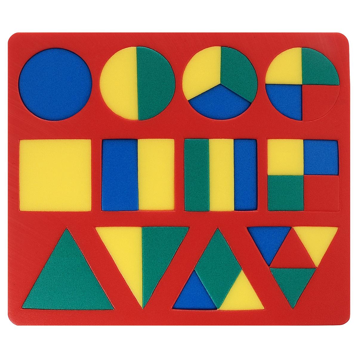 Флексика Пазл для малышей Геометрия цвет основы красный флексика пазл для малышей попугай цвет основы красный