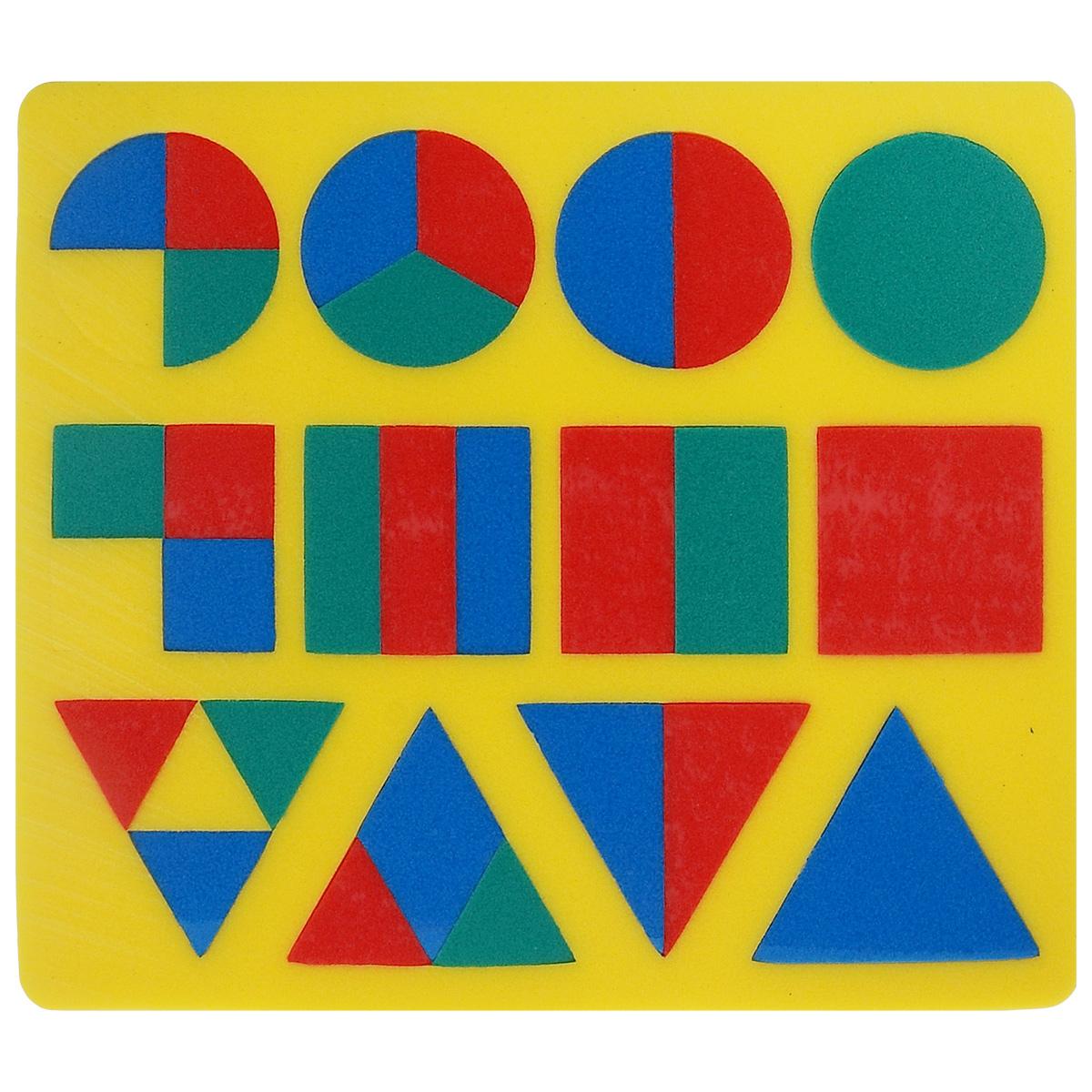 Флексика Пазл для малышей Геометрия цвет основы желтый флексика пазл для малышей геометрия цвет основы красный
