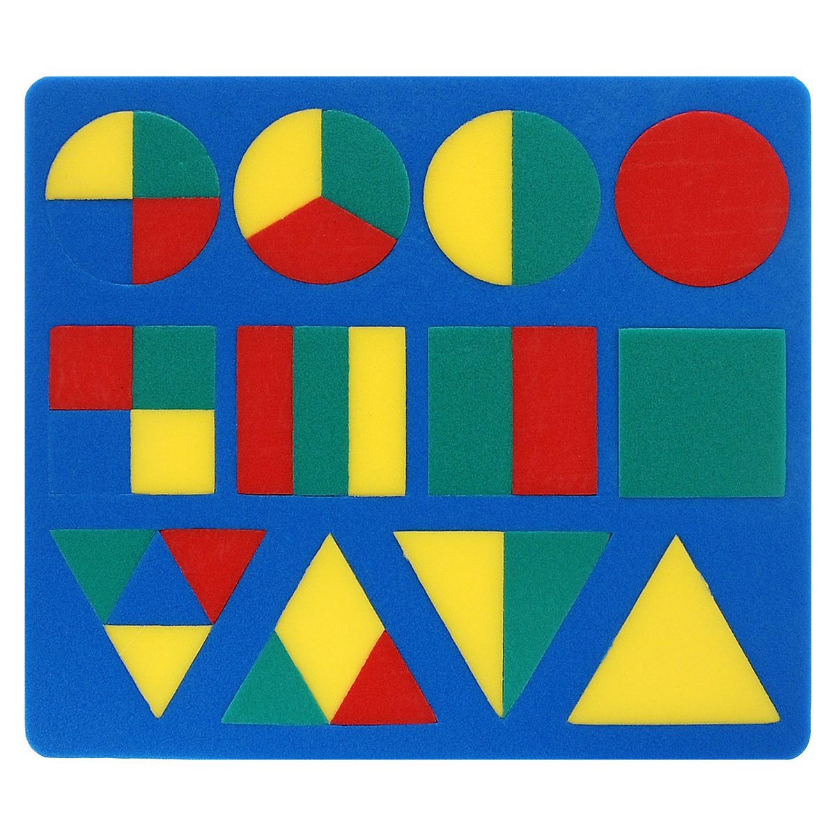 Флексика Пазл для малышей Геометрия цвет основы синий флексика пазл для малышей попугай цвет основы красный