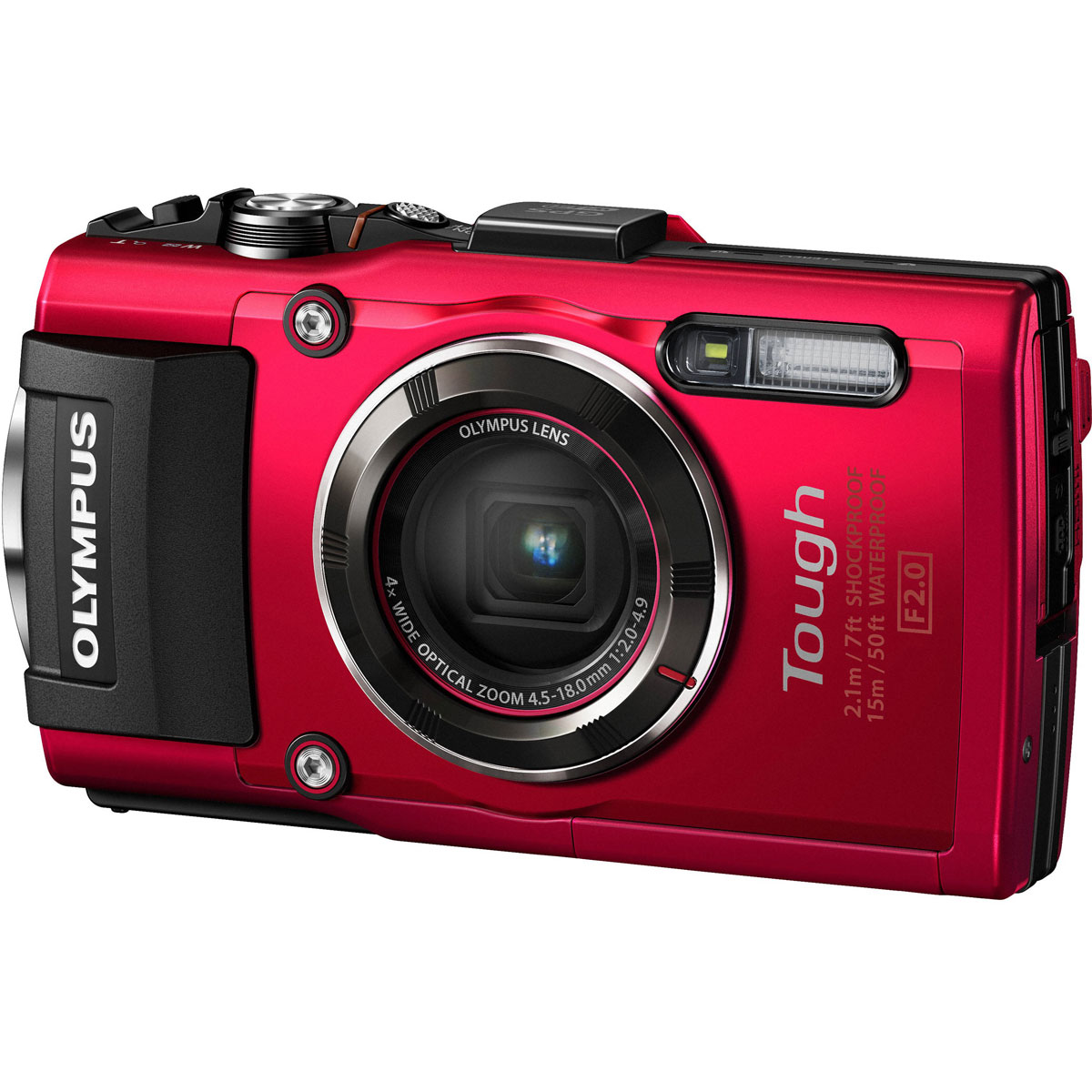 Olympus TG-4, Red цифровая фотокамера - Цифровые фотоаппараты