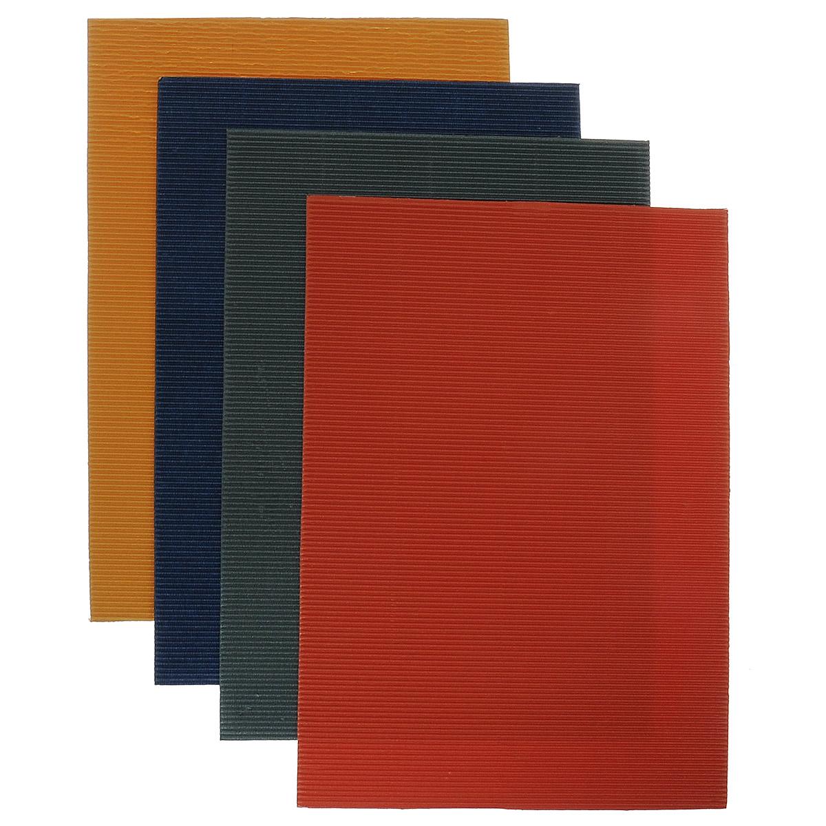 Набор цветного гофрированного картона Бриз, перламутровый, 4 листа. 1126-5011126-501Набор гофрированного цветного картона Бриз отлично подойдет для создания эффектных и фактурных объемных панно. Набор состоит из четырех листов формата А4 цветного перламутрового картона: желтого, синего, красного и зеленого цветов. Каждый лист состоит из одного плоского слоя белого цвета и одного гофрированного слоя. Набор упакован в яркую картонную папку. Создание поделок из цветного картона - это увлекательный досуг, который позволяет ребенку развивать творческие способности.