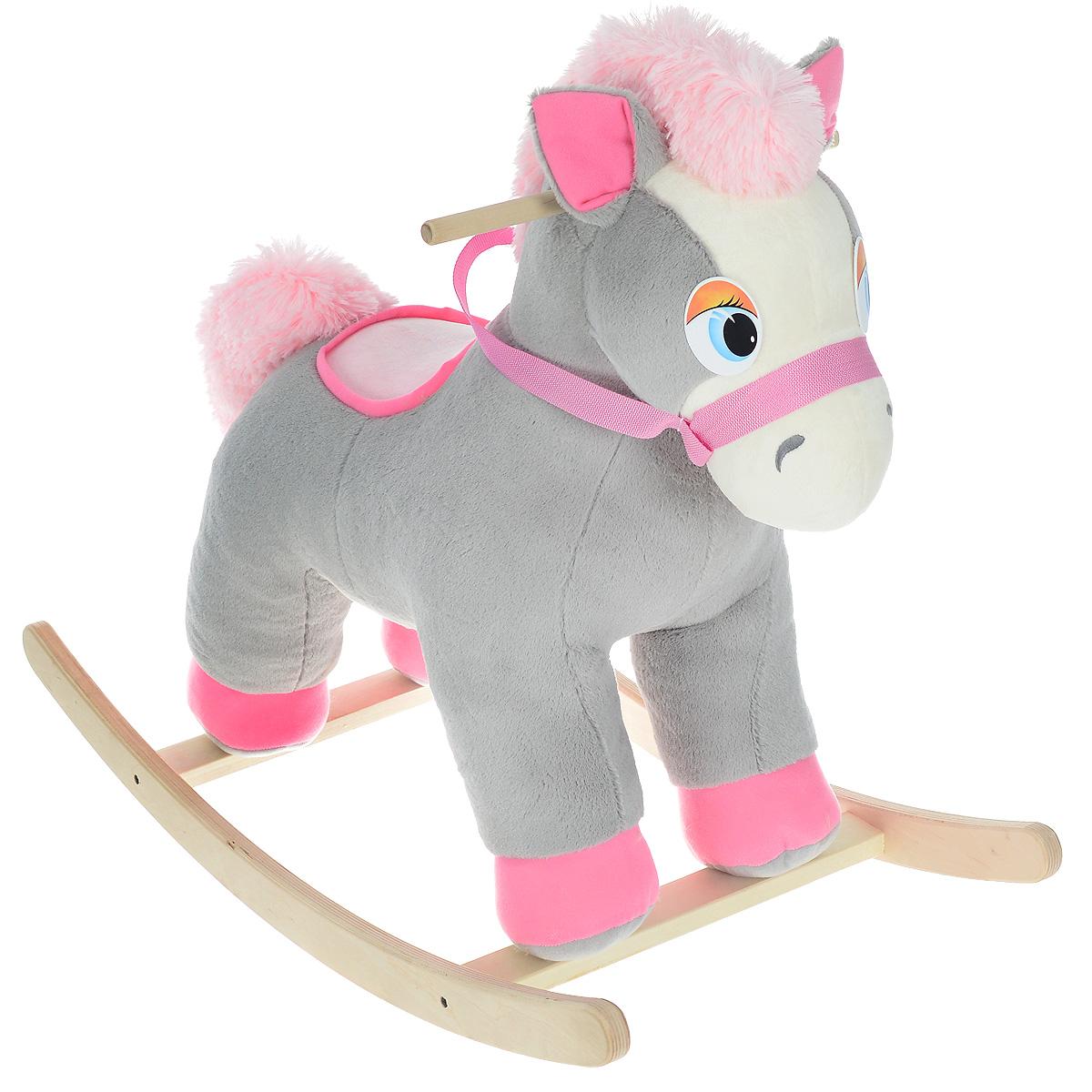 Качалка Fancy  Коник Риччи , цвет: серый, розовый, белый, 76 см х 39 см х 60 см -  Ходунки, прыгунки, качалки