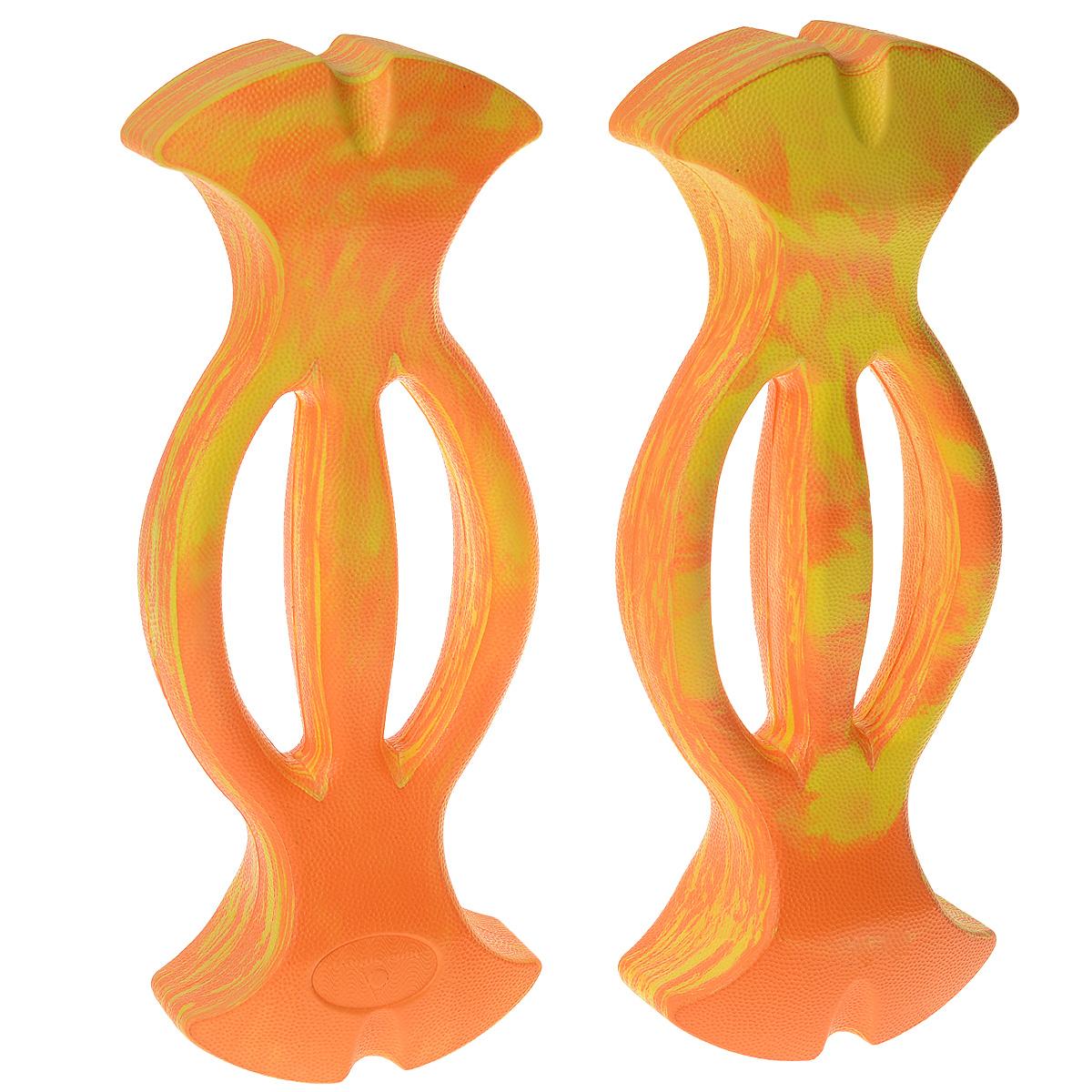 Усилитель сопротивления для рук Aqua Sphere ErgoBells, цвет: оранжевый, 2 штTN 549710Усилители сопротивления длярук Aqua Sphere ErgoBells предназначены для выполнения общеразвивающих упражнений. Изготовлены из влагоотталкивающего пористого полимера ЭВА. Усилители тонизируют мышцы плечевого пояса и сжигают калории.