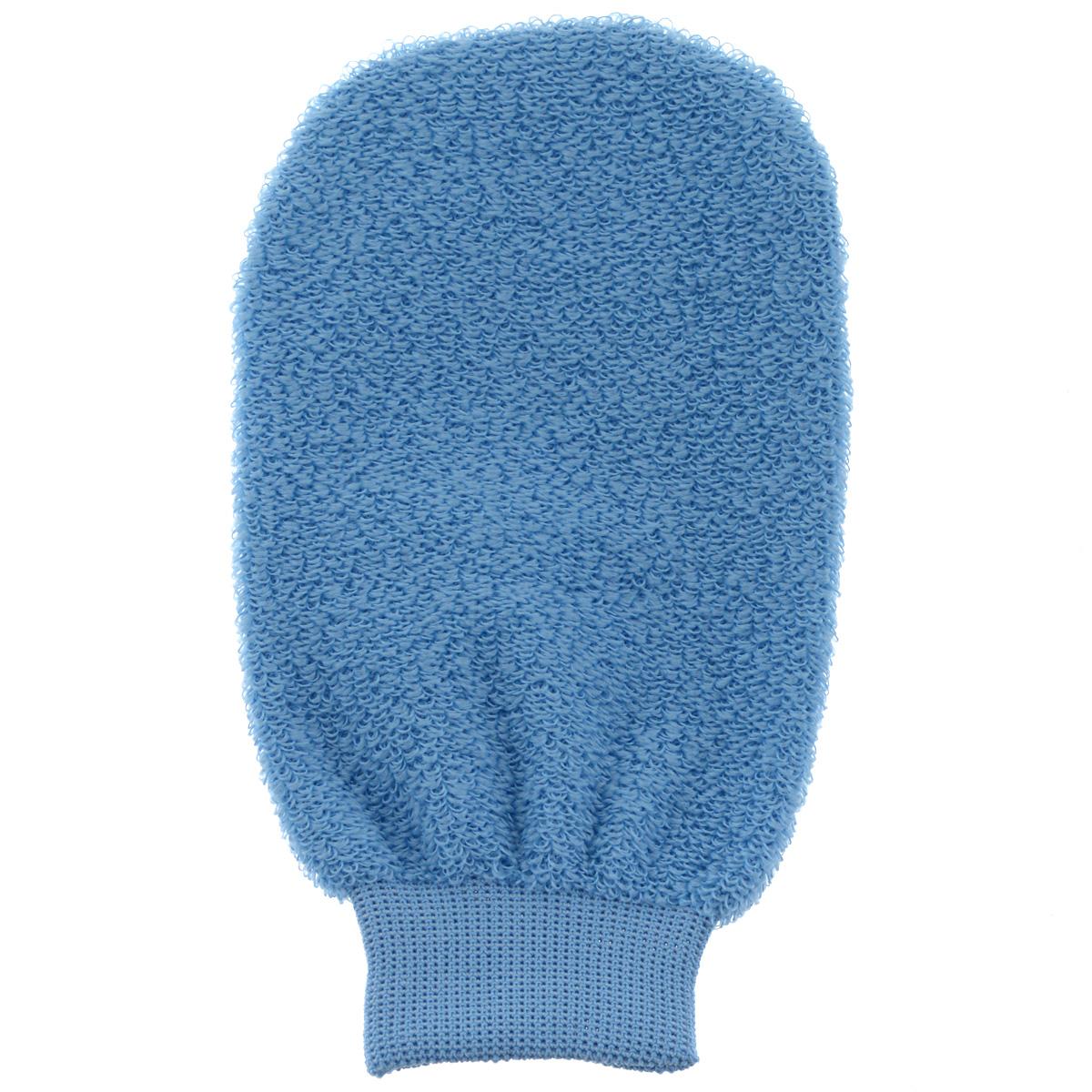 Мочалка-рукавица для лица Riffi, голубой мочалка рукавица banika сизаль м444