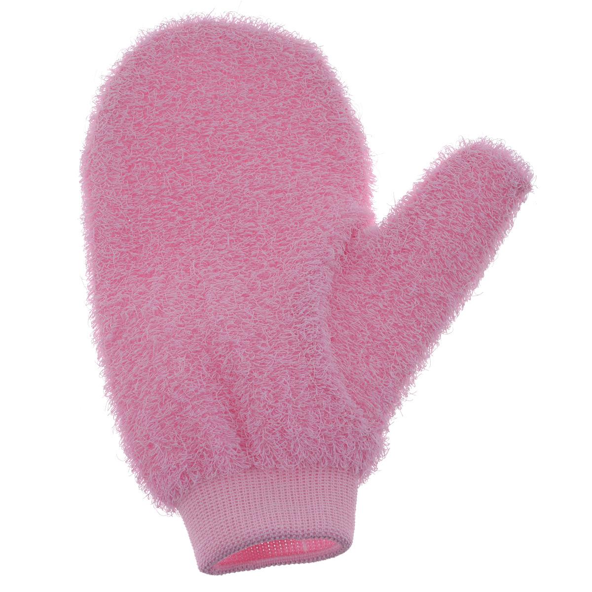 Riffi Мочалка-рукавица массажная, жесткая, розовый750_розовыйЖесткая мочалка-рукавица Riffi используется для мытья тела, обладает активным пилинговым действием, тонизируя, массируя и эффективно очищая вашу кожу. Интенсивный и пощипывающе свежий массаж с применением Riffi оживляет кожу, активирует кровоснабжение и улучшает общее самочувствие. Благодаря отшелушивающему эффекту освобождает кожу от отмерших клеток, делает ее гладкой, упругой и свежей. Приносит приятное расслабление всему организму. Эффективно предупреждает образование целлюлита. Характеристики: Материал:50% полиэтилен, 50% полиэстер. Размер мочалки:17 см х 22 см. Артикул:750. Товар сертифицирован.