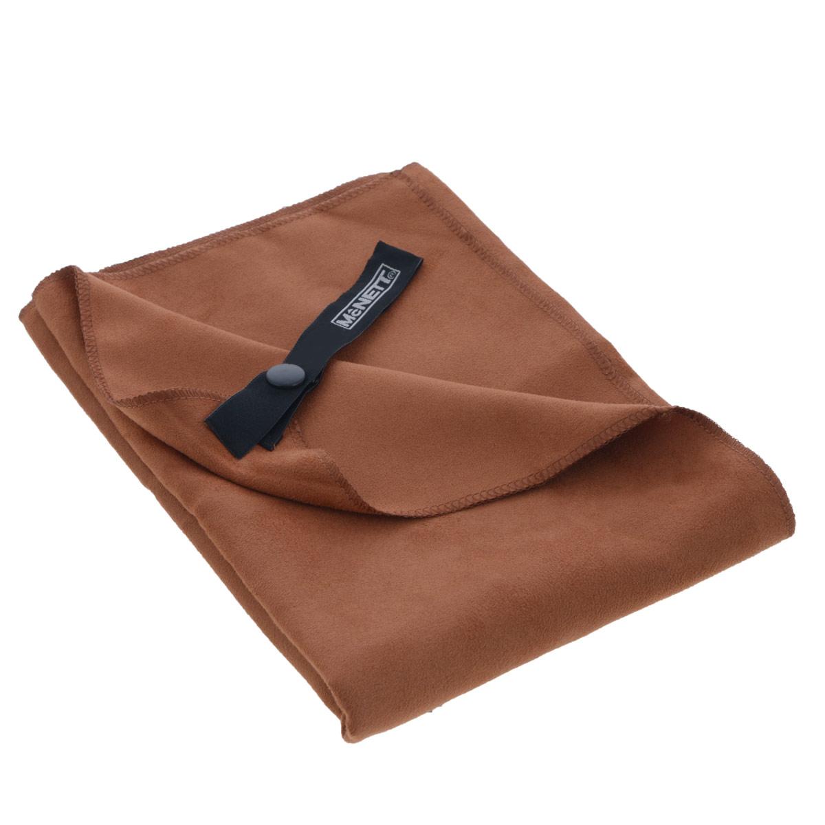 Полотенце McNett Outgo, цвет: терракот, 77 см х 128 смMN 68159Микроволоконное полотенце McNett Outgo - это специально разработанная высокоплотная вязаная чрезвычайно компактная ткань с абсолютно уникальными впитывающими и чистящими свойствами. Сверхтонкие (0.2 денье) микроволоконные сплетения быстро сохнут - 90% воды удаляется при ручном отжиме. Приятное на ощупь, обладающее уникальными свойствами микроволокон, полотенце McNett Outgo идеально подойдет любителям различных поездок, походов и водных видов спорта. В комплекте удобный чехол, выполненный из сетки с водоотталкивающей подкладкой.