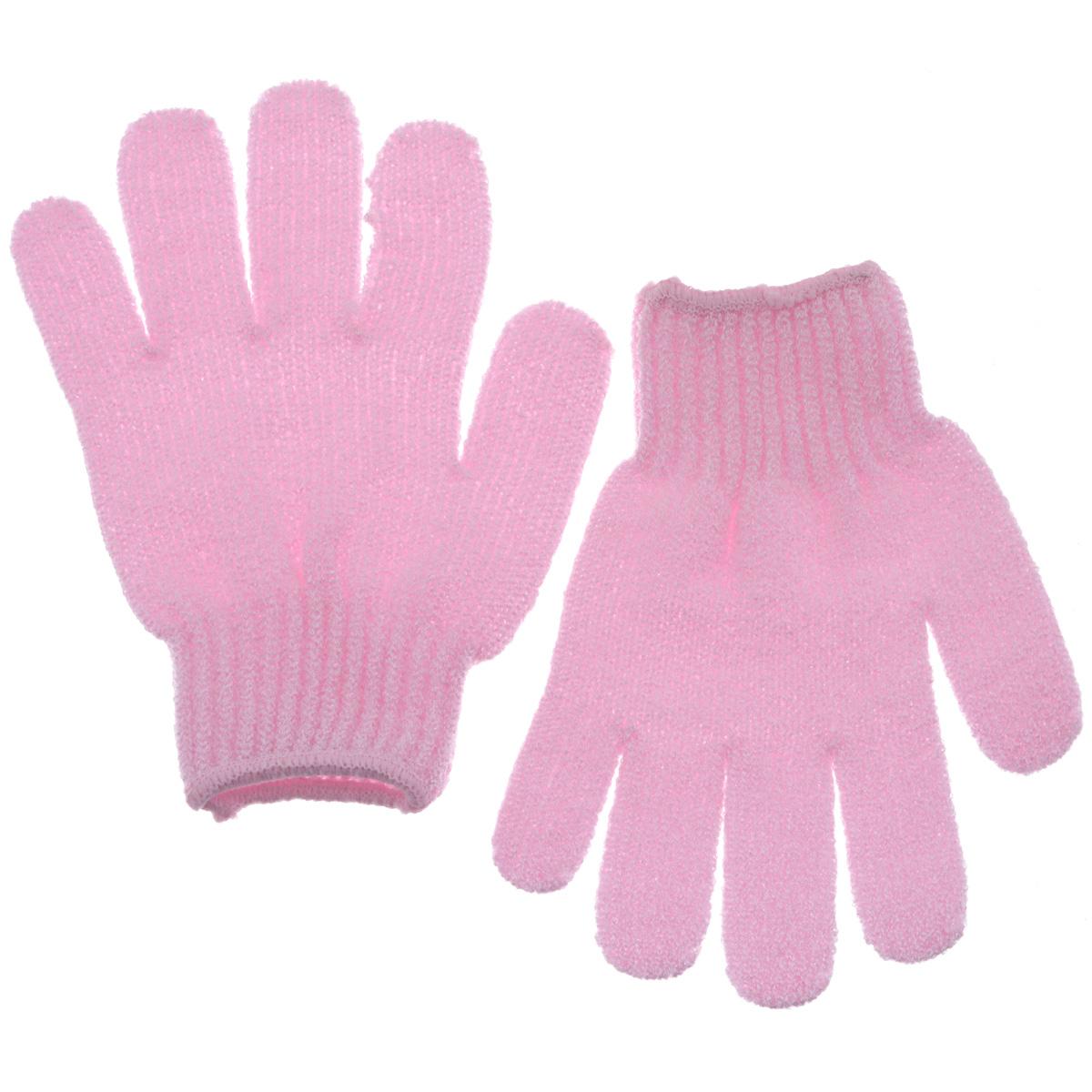 Riffi Перчатки для пилинга, цвет: розовый615_розовыйЭластичные безразмерные перчатки Riffi обладают активным антицеллюлитным эффектом и отличным пилинговым действием, тонизируя, массируя и эффективно очищая вашу кожу. Riffi освобождает кожу от отмерших клеток, стимулирует регенерацию. Эффективно предупреждают образование целлюлита и обеспечивают омолаживающий эффект. Кожа становится гладкой, упругой и лучше готовой к принятию косметических средств. Интенсивный и пощипывающе свежий массаж тела с применением Riffi стимулирует кровообращение, активирует кровоснабжение, способствует обмену веществ. В комплекте 1 пара перчаток. Характеристики:Материал: 100% полиакрил. Размер перчатки (в нерастянутом виде): 17,5 см x 12,5 см. Артикул:615.