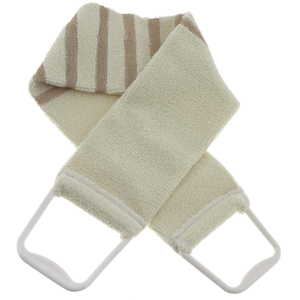 Мочалка 426, цвет: бежевый426 бежевыйМочалка-пояс Riffi применяется для мытья тела, обладает активным пилинговым действием,тонизируя, массируя и эффективно очищая вашу кожу. Мягкая хлопковая мочалка-пояс хорошонамыливает тело, а ее цветные полоски из жесткой полиэтиленовой махры эффективно удаляютотмершие чешуйки кожи, производя одновременно с пилингом и легкий массаж. Для удобстваприменения пояс снабжен двумя пластиковыми ручками. Благодаря отшелушивающемуэффекту мочалки-пояса, кожа освобождается от отмерших клеток, становится гладкой, упругой исвежей. Интенсивный и пощипывающе свежий массаж тела с применением Riffi стимулируеткровообращение, активирует кровоснабжение, способствует обмену веществ, что в свою очередьпозволяет себя чувствовать бодрым и отдохнувшим после принятия душа или ванны. Riffiрегенерирует кожу, делает ее приятно нежной, мягкой и лучше готовой к принятию косметическихсредств. Приносит приятное расслабление всему организму. Борется со спазмами и болями вмышцах, предупреждает образование целлюлита и обеспечивает омолаживающий эффект.Гипоаллергенная.Длина мочалки (с учетом ручек): 90 см. Длина мочалки (без учета ручек): 74,5 см. Ширина мочалки: 11,5 см.