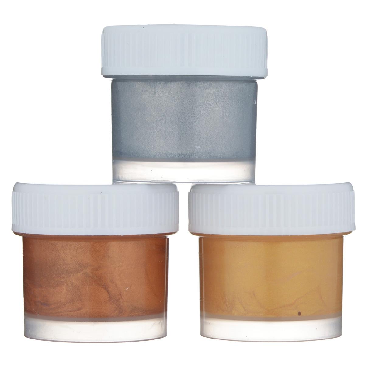 Краски акриловые Луч Металлик, 15 мл, 3 шт22С 1399-08Акриловые краски Луч Металлик предназначены для росписи по гипсу, дереву, бумаге, картону, керамике.Имеют ярко выраженный металлический цвет и блеск. В наборе краски трех ярких цветов: серебристый, золотистый, медный. Успех этих современных красок вызван, главным образом, простотой их применения, универсальностью ибыстротой высыхания.Объем: 15 мл.