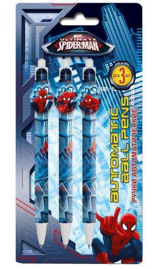 Набор из 3-х шариковых ручек Spider-man Classic набор канцелярский spider man classic 5 предметов smcb us1 360