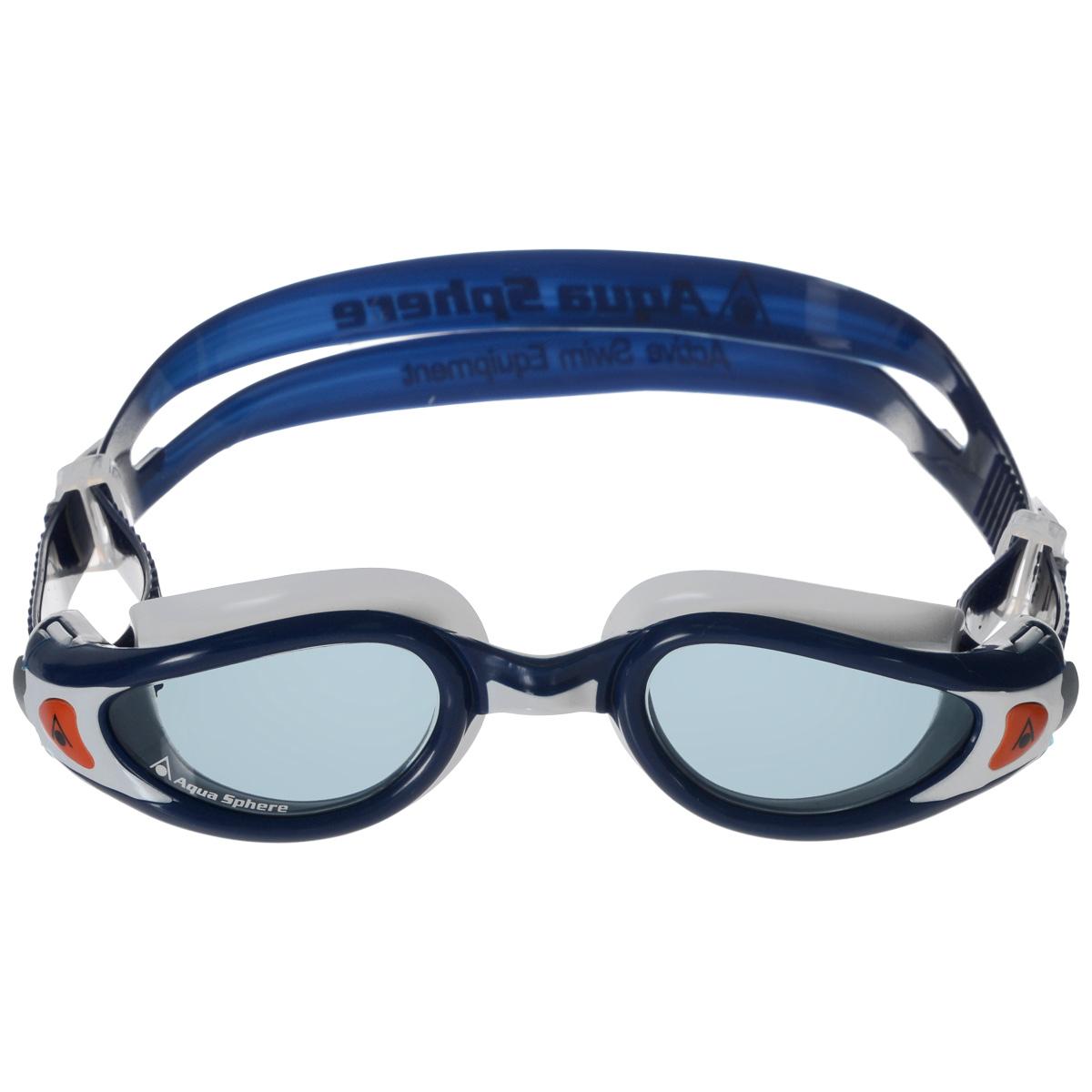 Очки для плавания Aqua Sphere Kaiman Exo Junior, цвет: белый, синий цена