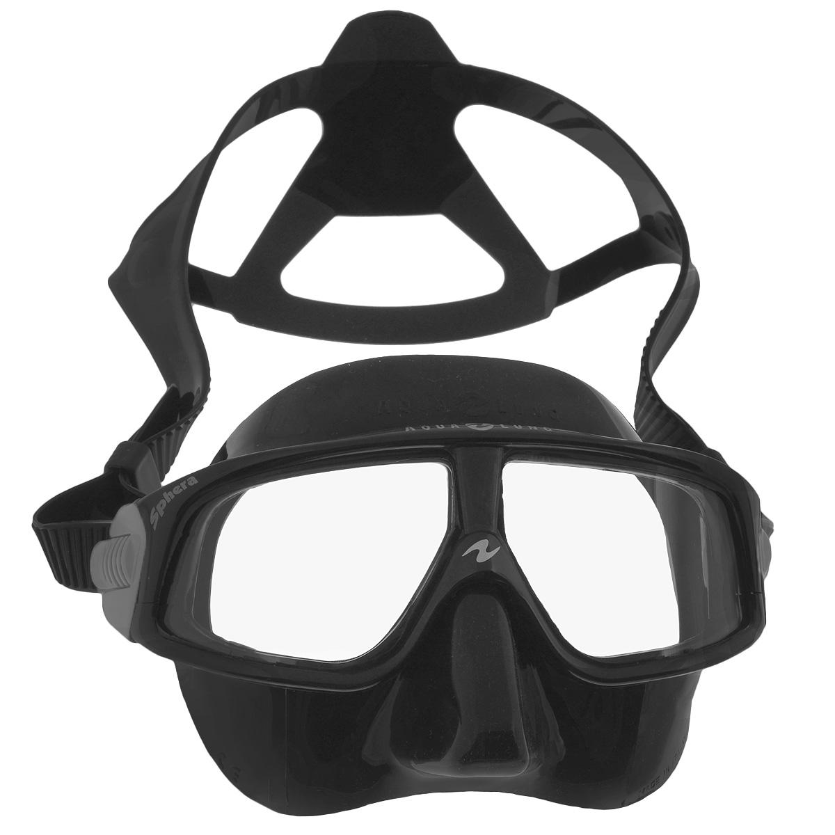 Маска для плавания Aqua Lung, цвет: черныйM0461 03 0 08WМаска для плавания Aqua Lung сочетает в себе уникальные свойства в результате применения особых материалов и технологий. Новый материал Plexisol позволил создать линзы, не дающие искажений пропорций и размеров объектов под водой, и обеспечивающие максимальный обзор в 180°. Особенности маски: Plexisol в 10 раз легче воды и при этом очень прочен, поэтому эта маска самая легкая в мире (98 г); Линзы изготовлены из плексисола, обеспечивающего видимость реального расстояния под водой;Внешняя сторона линз имеет защитное покрытие от царапин, а внутренняя обработана антизапотевателем;Обзор 180° без каких-либо искажений;Самое маленькое подмасочное пространство среди имеющихся на рынке масок;Малый вес - 98 г, (вес средней маски - 200 г);Анатомический фланец, изготовленный из гипоаллергенного медицинского силикона;Быстро регулируемые пряжки. Материал: силикон, plexisol.