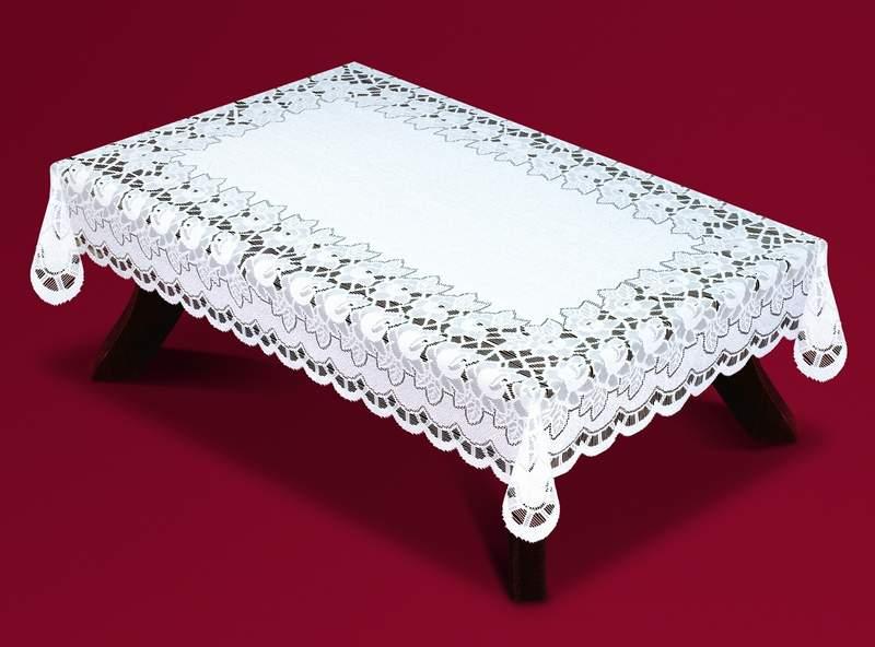 Скатерть Haft Skarb Babuni, прямоугольная, цвет: белый, 120 x 160 см. 59360/120