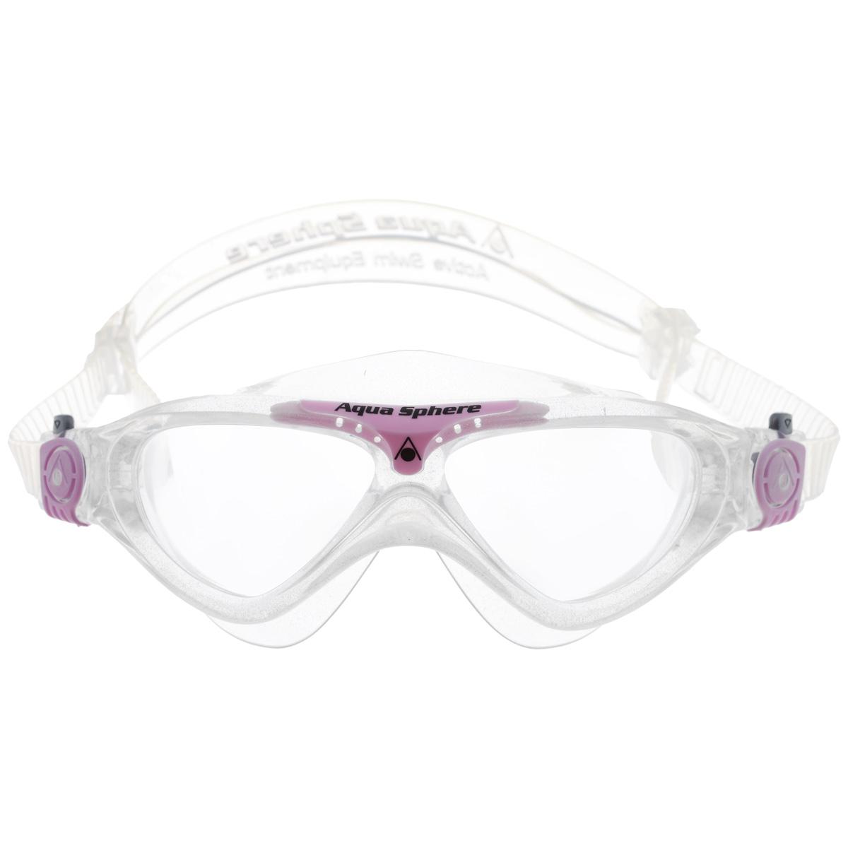 Очки для плавания Aqua Sphere Vista Junior, цвет: прозрачный, розовыйTN 172750Модные и стильные очки для плавания Aqua Sphere Vista Junior идеально подходят для плавания в бассейне или открытой воде. Оснащены линзами с антизапотевающим покрытием, которые устойчивы к появлению царапин. Мягкий комфортный обтюратор плотно прилегает к лицу. Запатентованные изогнутые линзы дают прекрасный обзор на 180° - без искажений. Очки дают 100% защиту от ультрафиолетового излучения спектра А и спектра В. Материал: плексисол, силикон.