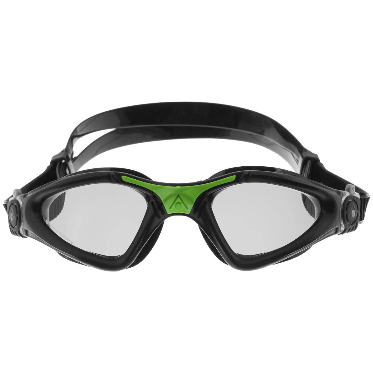 Очки для плавания Aqua Sphere Kayenne, прозрачные линзы, цвет: черный, зеленый очки для плавания aqua sphere k180 lady цвет белый розовый
