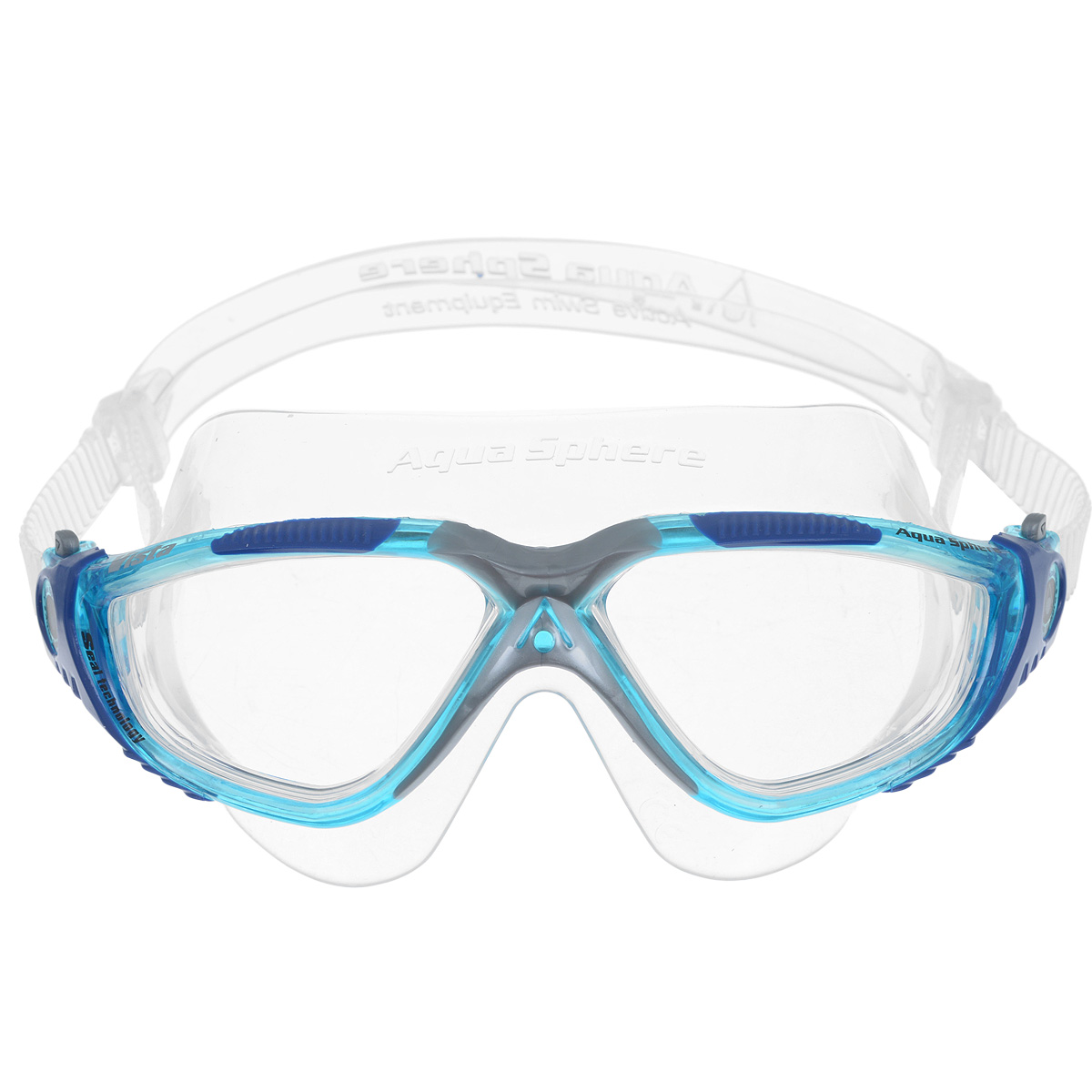 Очки для плавания Aqua Sphere Vista, цвет: аквамарин, синий aqua sphere racing tube green прозрачный силикон