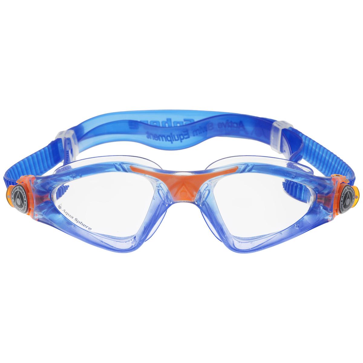 Очки для плавания Aqua Sphere Kayenne Junior, цвет: синий, оранжевый очки для плавания aqua sphere k180 lady цвет белый розовый