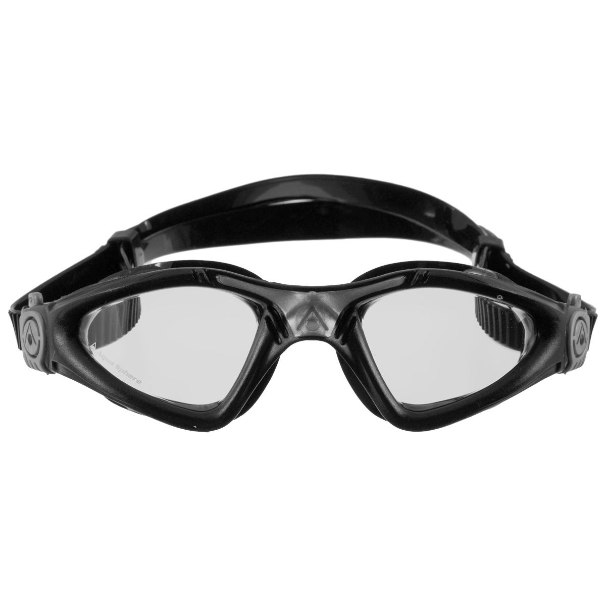 Очки для плавания Aqua Sphere Kayenne, прозрачные линзы, цвет: серебристый, черный цена
