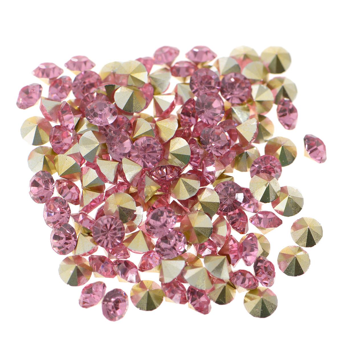 Стразы Cristal, цвет: розовый (23), диаметр 3 мм, 144 шт7711014_23 розовыйНабор страз Cristal, изготовленный из акрила, позволит вам украсить одежду, аксессуары или бижутерию. Яркие стразы имеют конусовидную форму и круглую поверхность с гранями. Украшение стразами поможет сделать любую вещь оригинальной и неповторимой. Изготовление украшений - занимательное хобби и реализация творческих способностей рукодельницы, это возможность создания неповторимого индивидуального подарка. Размер страз: SS16.