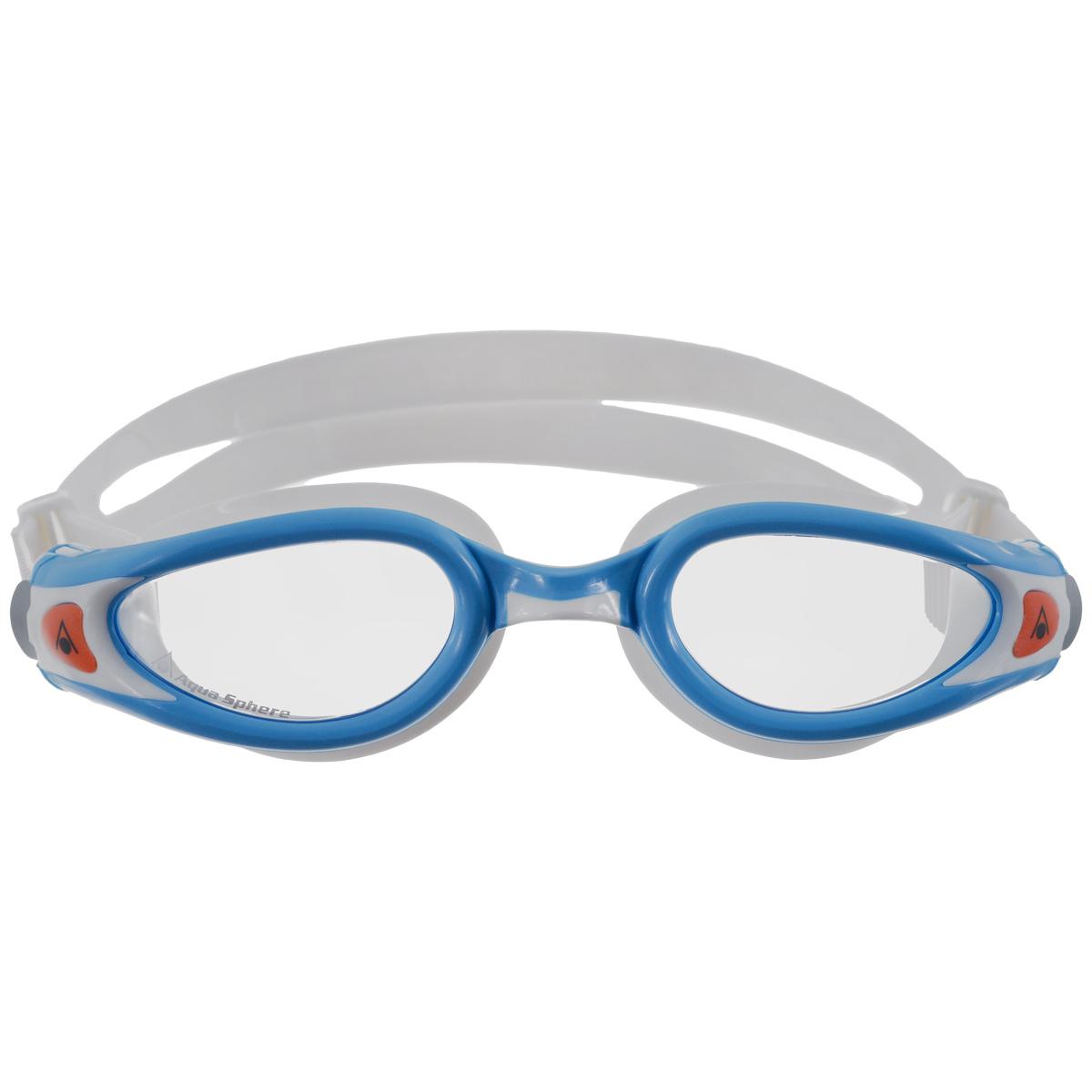 Очки для плавания Aqua Sphere Kaiman Exo Junior, цвет: голубой, белыйTN 175800Легкие детские очки Aqua Sphere Kaiman Exo (вес всего 34 грамма) идеально подходят для плавания в бассейне или открытой воде. Особая технология изогнутых линз позволяет обеспечить превосходный обзор в 180°, не искажая при этом изображение. Очки дают 100% защиту от ультрафиолетового излучения. Специальное покрытие препятствует запотеванию стекол. Новая технология каркаса EXO-core bi-material обеспечивает максимальную стабильность и комфорт.Подростковая обновленная версия популярных очков Aqua Sphere Kaiman сохраняет все лучшее от взрослой модели.Эластичная саморегулирующаяся переносица.Комфорт и долговечность.Низкопрофильный дизайн.Материал: софтерил, plexisol.