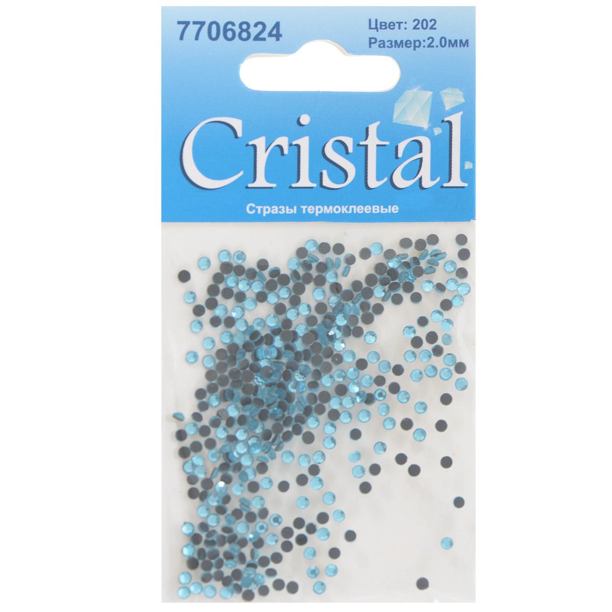 Стразы термоклеевые Cristal, цвет: голубой (202), диаметр 2 мм, 432 шт7706824_202Набор термоклеевых страз Cristal, изготовленный из высококачественного акрила, позволит вам украсить одежду, аксессуары или текстиль. Яркие стразы имеют плоское дно и круглую поверхность с гранями.Дно термоклеевых страз уже обработано особым клеем, который под воздействием высоких температур начинает плавиться, приклеиваясь, таким образом, к требуемой поверхности. Чаще всего их используют в текстильной промышленности: стразы прикладывают к ткани и проглаживают утюгом с обратной стороны. Также можно использовать специальный паяльник. Украшение стразами поможет сделать любую вещь оригинальной и неповторимой. Диаметр страз: 2 мм.