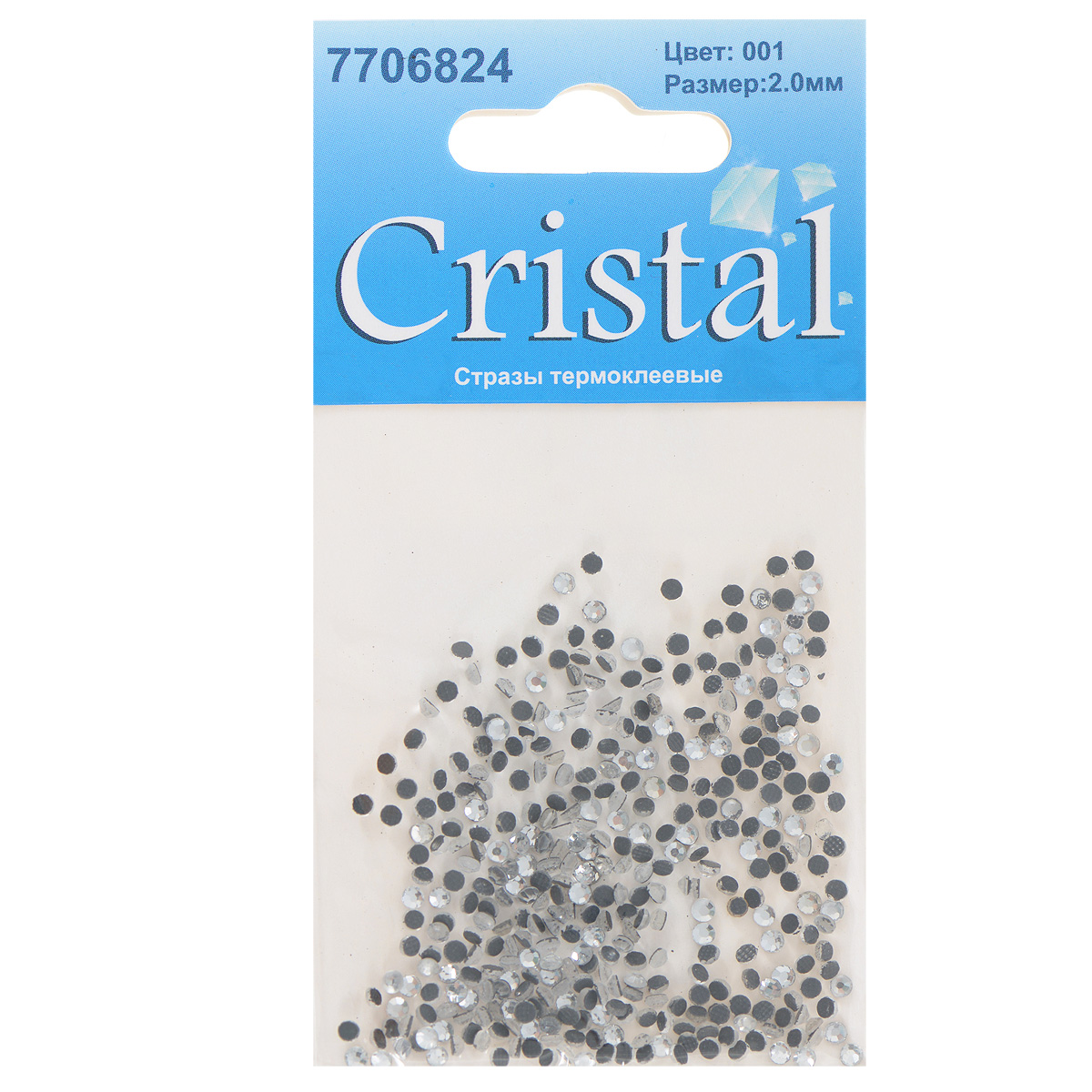 Стразы термоклеевые Cristal, цвет: белый (001), диаметр 2 мм, 432 шт7706824_001Набор термоклеевых страз Cristal, изготовленный из высококачественного акрила, позволит вам украсить одежду, аксессуары или текстиль. Яркие стразы имеют плоское дно и круглую поверхность с гранями.Дно термоклеевых страз уже обработано особым клеем, который под воздействием высоких температур начинает плавиться, приклеиваясь, таким образом, к требуемой поверхности. Чаще всего их используют в текстильной промышленности: стразы прикладывают к ткани и проглаживают утюгом с обратной стороны. Также можно использовать специальный паяльник. Украшение стразами поможет сделать любую вещь оригинальной и неповторимой. Диаметр страз: 2 мм.