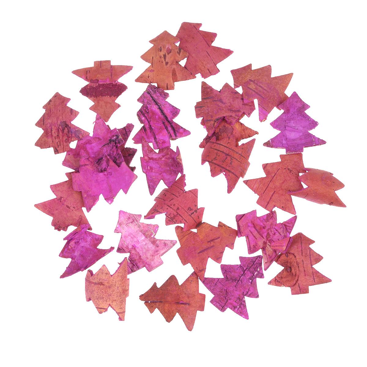 Декоративный элемент Dongjiang Art Елка, цвет: розовый, 25 шт7709017Декоративный элемент Dongjiang Art Елка, изготовленный из натуральной коры дерева, предназначен для украшения цветочных композиций. Изделие можно также использовать в технике скрапбукинг и многом другом. Флористика - вид декоративно-прикладного искусства, который использует живые, засушенные или консервированные природные материалы для создания флористических работ. Это целый мир, в котором есть место и строгому математическому расчету, и вдохновению.