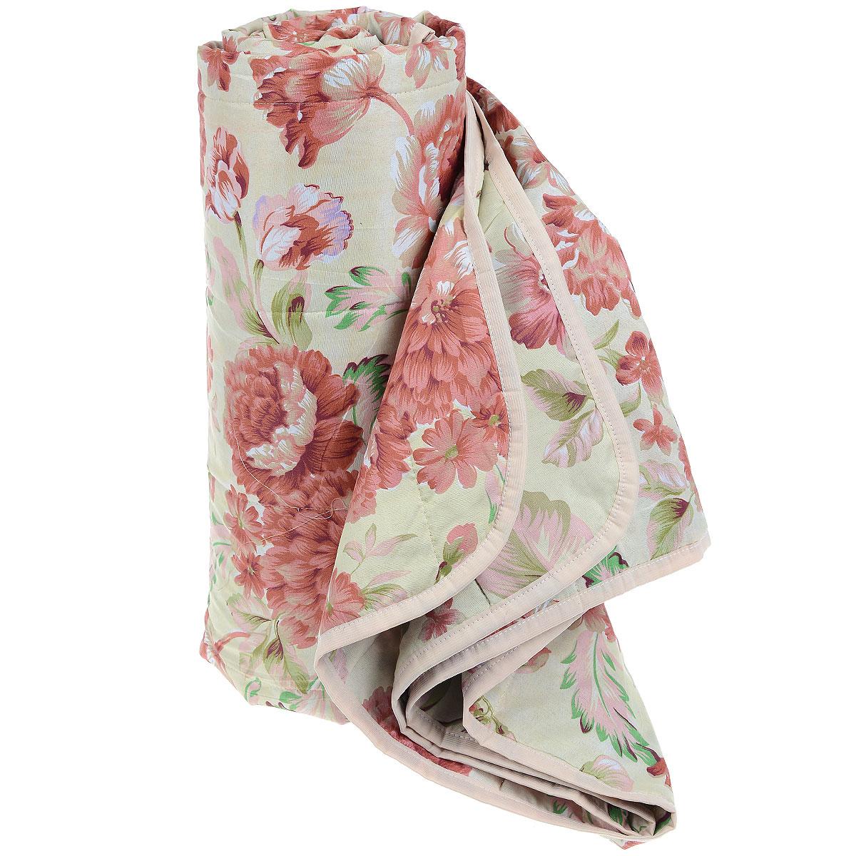 Одеяло летнее OL-Tex Miotex, наполнитель: холфитекс, цвет: бежевый в красные цветочки, 200 х 220 смМХПЭ-22-1 бежевый, красныйЧехол летнего одеяла OL-Tex Miotex выполнен из высококачественного полиэстера. Наполнитель - холфитекс. Одеяло простегано - значит, наполнитель внутри будет всегда распределен равномерно. Изделие оформлено ярким рисунком.Идеально подойдет тем, кто ценит мягкость и тепло. Ручная стирка при температуре 30°С. Материал чехла: 100% полиэстер.Наполнитель: холфитекс.