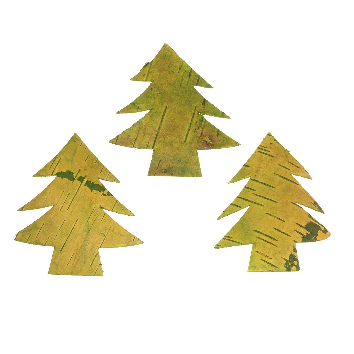 Декоративный элемент Dongjiang Art Елка, цвет: зеленый, 3 шт7709019Декоративный элемент Dongjiang Art Елка, изготовленный из натуральной коры дерева, предназначен для украшения цветочных композиций. Изделие выполнено в виде елки, которое можно также использовать в технике скрапбукинг и многом другом. Флористика - вид декоративно-прикладного искусства, который использует живые, засушенные или консервированные природные материалы для создания флористических работ. Это целый мир, в котором есть место и строгому математическому расчету, и вдохновению.