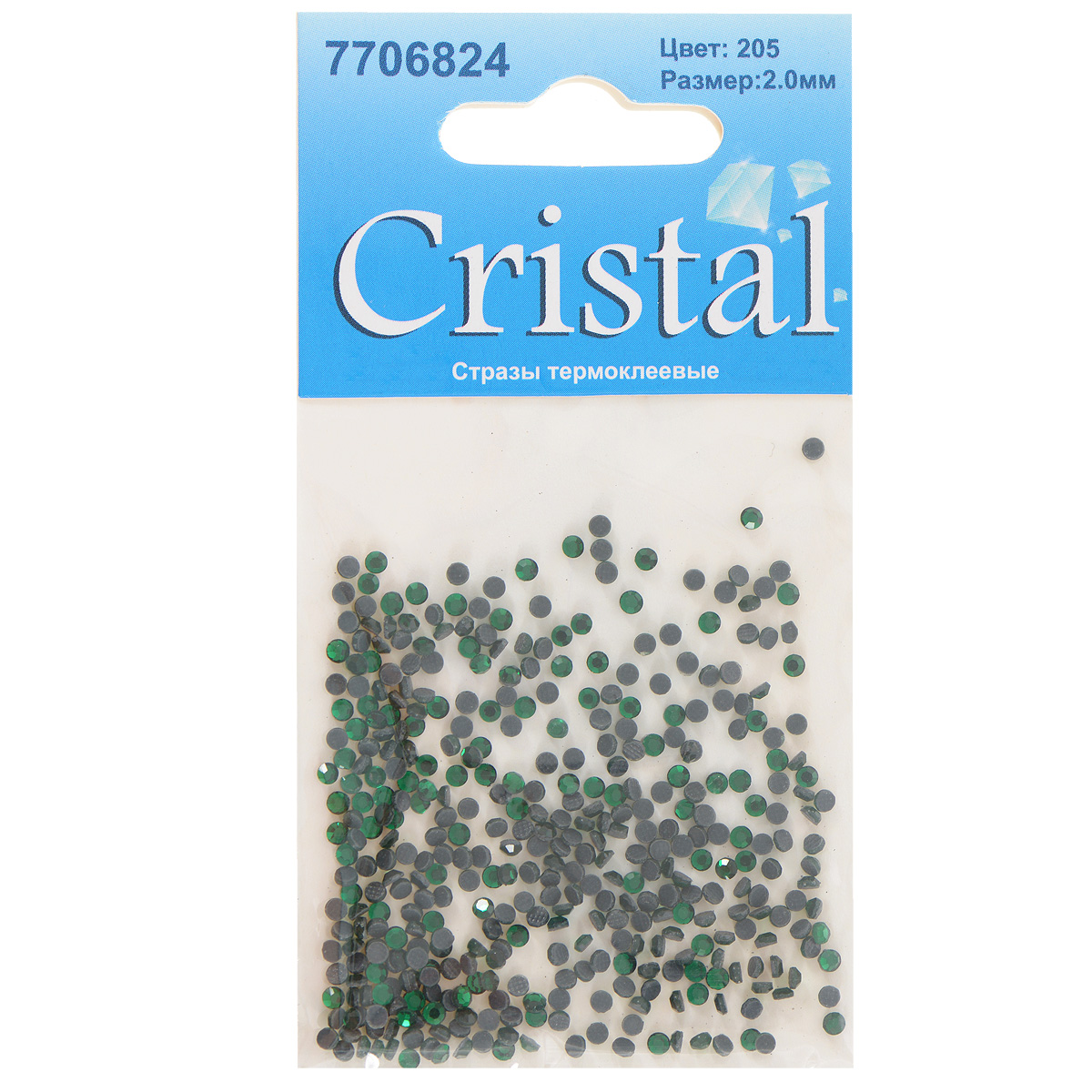 Стразы термоклеевые Cristal, цвет: зеленый (205), диаметр 2 мм, 432 шт7706824_205Набор термоклеевых страз Cristal, изготовленный из высококачественного акрила, позволит вам украсить одежду, аксессуары или текстиль. Яркие стразы имеют плоское дно и круглую поверхность с гранями.Дно термоклеевых страз уже обработано особым клеем, который под воздействием высоких температур начинает плавиться, приклеиваясь, таким образом, к требуемой поверхности. Чаще всего их используют в текстильной промышленности: стразы прикладывают к ткани и проглаживают утюгом с обратной стороны. Также можно использовать специальный паяльник. Украшение стразами поможет сделать любую вещь оригинальной и неповторимой. Диаметр страз: 2 мм.