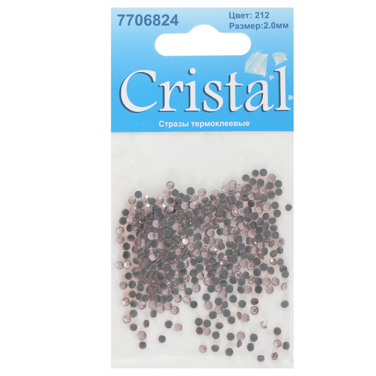 Стразы термоклеевые Cristal, цвет: бледно-розовый (212), диаметр 2 мм, 432 шт7706824_212Набор термоклеевых страз Cristal, изготовленный из высококачественного акрила, позволит вам украсить одежду, аксессуары или текстиль. Яркие стразы имеют плоское дно и круглую поверхность с гранями.Дно термоклеевых страз уже обработано особым клеем, который под воздействием высоких температур начинает плавиться, приклеиваясь, таким образом, к требуемой поверхности. Чаще всего их используют в текстильной промышленности: стразы прикладывают к ткани и проглаживают утюгом с обратной стороны. Также можно использовать специальный паяльник. Украшение стразами поможет сделать любую вещь оригинальной и неповторимой. Диаметр страз: 2 мм.