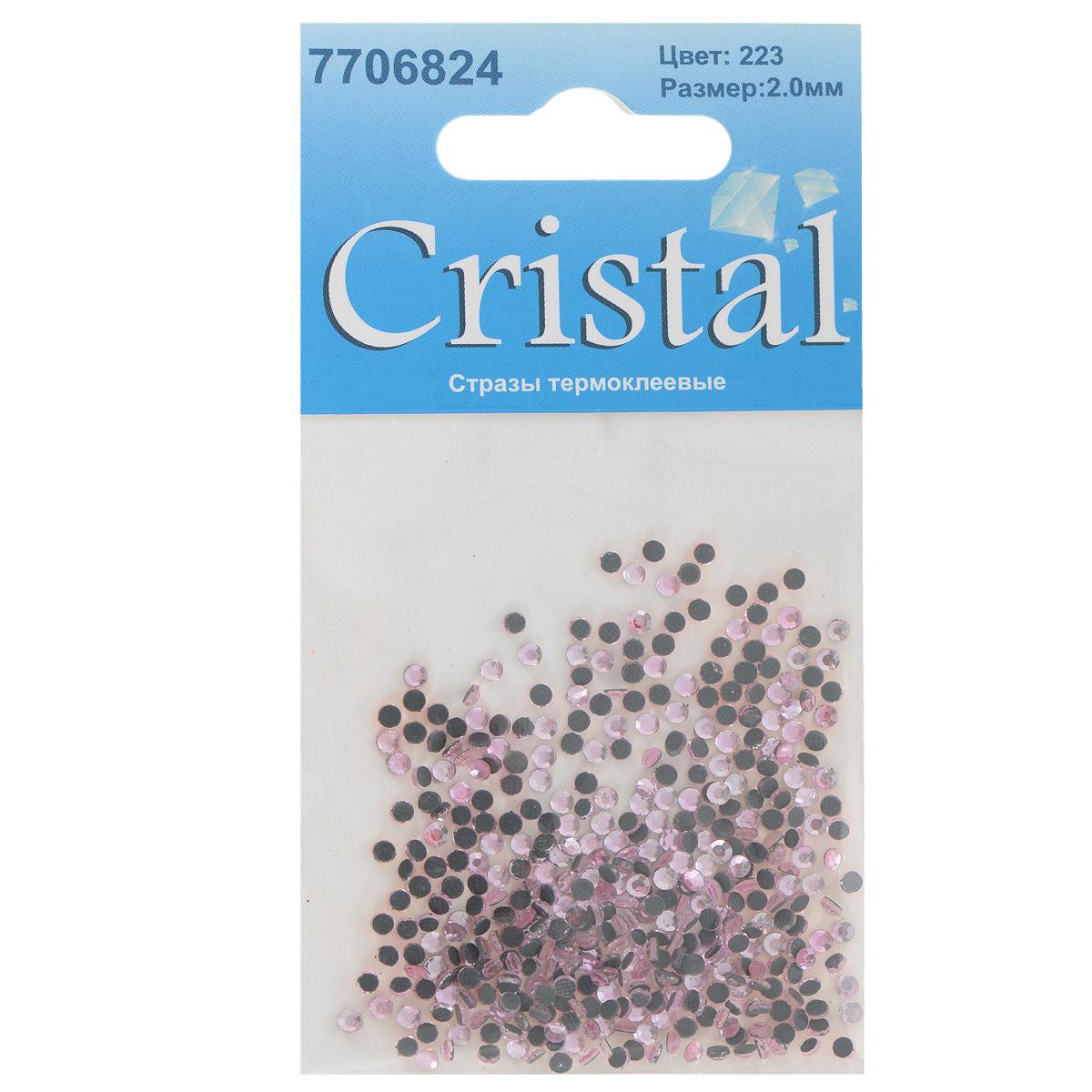Стразы термоклеевые Cristal, цвет: светло-розовый (223), диаметр 2 мм, 432 шт7706824_223Набор термоклеевых страз Cristal, изготовленный из высококачественного акрила, позволит вам украсить одежду, аксессуары или текстиль. Яркие стразы имеют плоское дно и круглую поверхность с гранями.Дно термоклеевых страз уже обработано особым клеем, который под воздействием высоких температур начинает плавиться, приклеиваясь, таким образом, к требуемой поверхности. Чаще всего их используют в текстильной промышленности: стразы прикладывают к ткани и проглаживают утюгом с обратной стороны. Также можно использовать специальный паяльник. Украшение стразами поможет сделать любую вещь оригинальной и неповторимой. Диаметр страз: 2 мм.