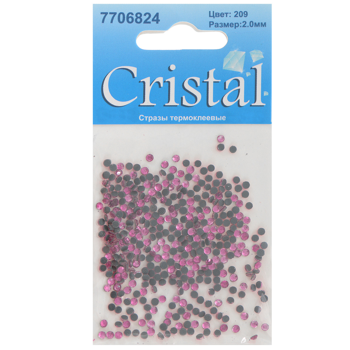 Стразы термоклеевые Cristal, цвет: розовый (209), диаметр 2 мм, 432 шт7706824_209Набор термоклеевых страз Cristal, изготовленный из высококачественного акрила, позволит вам украсить одежду, аксессуары или текстиль. Яркие стразы имеют плоское дно и круглую поверхность с гранями.Дно термоклеевых страз уже обработано особым клеем, который под воздействием высоких температур начинает плавиться, приклеиваясь, таким образом, к требуемой поверхности. Чаще всего их используют в текстильной промышленности: стразы прикладывают к ткани и проглаживают утюгом с обратной стороны. Также можно использовать специальный паяльник. Украшение стразами поможет сделать любую вещь оригинальной и неповторимой. Диаметр страз: 2 мм.