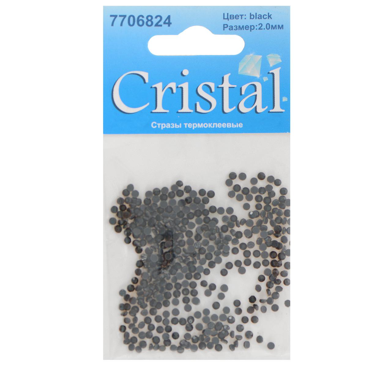 Стразы термоклеевые Cristal, цвет: черный, диаметр 2 мм, 432 шт7706824_черныйНабор термоклеевых страз Cristal, изготовленный из высококачественного акрила, позволит вам украсить одежду, аксессуары или текстиль. Яркие стразы имеют плоское дно и круглую поверхность с гранями.Дно термоклеевых страз уже обработано особым клеем, который под воздействием высоких температур начинает плавиться, приклеиваясь, таким образом, к требуемой поверхности. Чаще всего их используют в текстильной промышленности: стразы прикладывают к ткани и проглаживают утюгом с обратной стороны. Также можно использовать специальный паяльник. Украшение стразами поможет сделать любую вещь оригинальной и неповторимой. Диаметр страз: 2 мм.