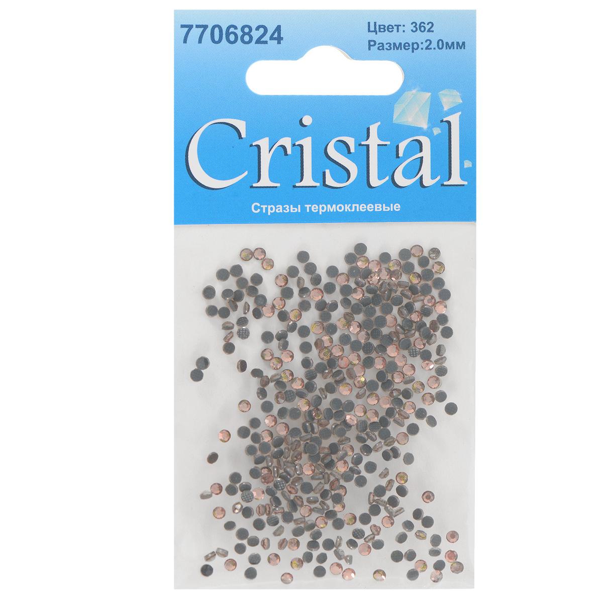 Стразы термоклеевые Cristal, цвет: светло-коралловый (362), диаметр 2 мм, 432 шт7706824_362Набор термоклеевых страз Cristal, изготовленный из высококачественного акрила, позволит вам украсить одежду, аксессуары или текстиль. Яркие стразы имеют плоское дно и круглую поверхность с гранями.Дно термоклеевых страз уже обработано особым клеем, который под воздействием высоких температур начинает плавиться, приклеиваясь, таким образом, к требуемой поверхности. Чаще всего их используют в текстильной промышленности: стразы прикладывают к ткани и проглаживают утюгом с обратной стороны. Также можно использовать специальный паяльник. Украшение стразами поможет сделать любую вещь оригинальной и неповторимой. Диаметр страз: 2 мм.