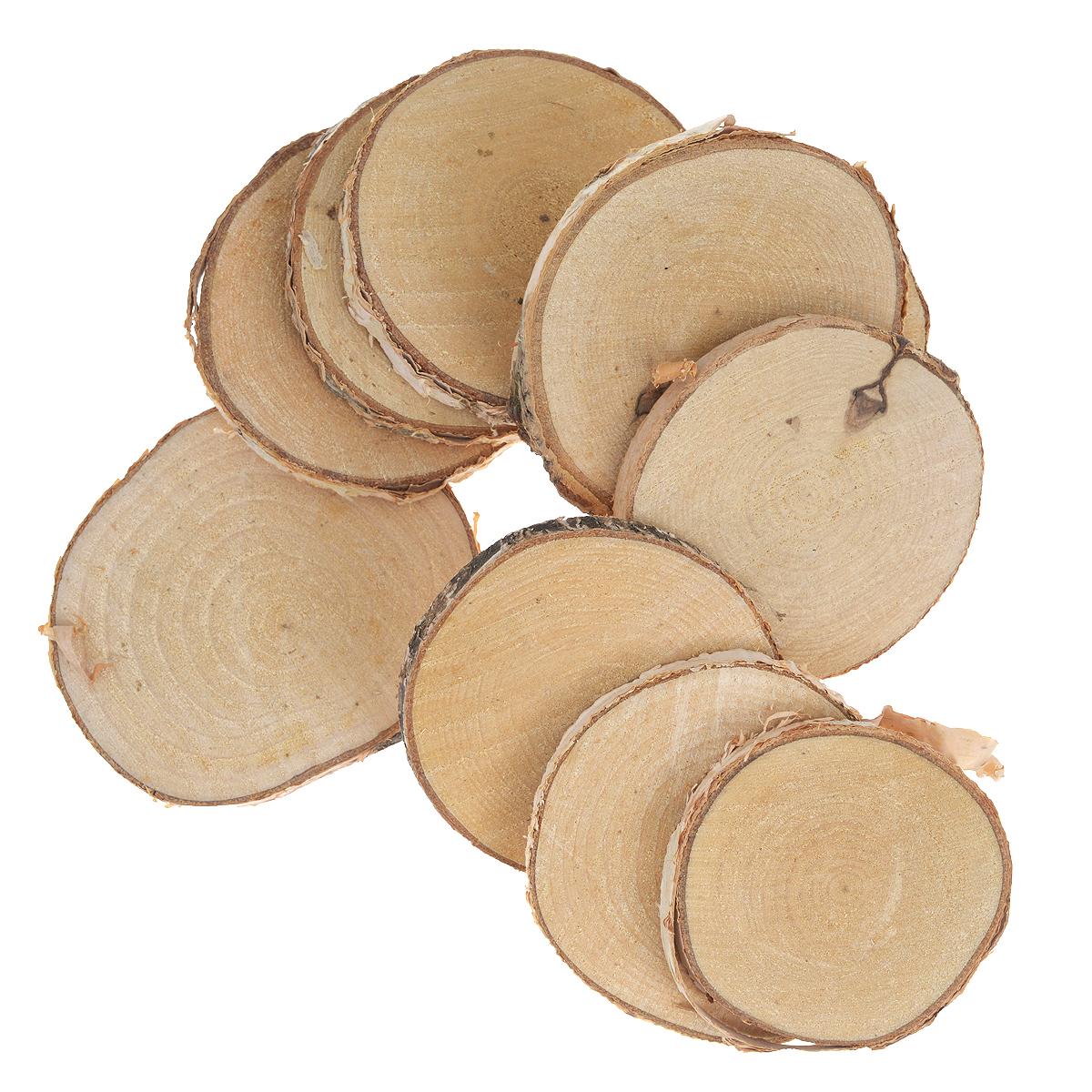 Декоративный элемент Dongjiang Art Срез ветки, цвет: натуральное дерево, толщина 7 мм, 10 шт. 77090297709029Декоративный элемент Dongjiang Art Срез ветки изготовлен из дерева.Изделие предназначено для декорирования. Декоративный элемент представляет собой тонкий срез ветки. Срез может пригодиться во флористике и многом другом. Флористика - вид декоративно-прикладного искусства, который использует живые, засушенные или консервированные природные материалы для создания флористических работ. Это целый мир, в котором есть место и строгому математическому расчету, и вдохновению, полету фантазии. Толщина среза: 7 мм. Диаметр элемента: 6,5 см. Размер элемента: 7,5 см х 8,5 см.