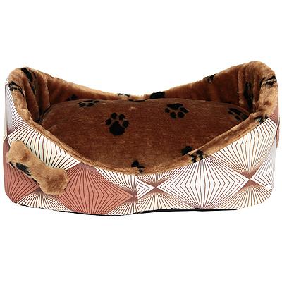 Лежак для кошек и собак Гамма, 58 х 38 х 22 см гамма миска двойная для кошек и собак