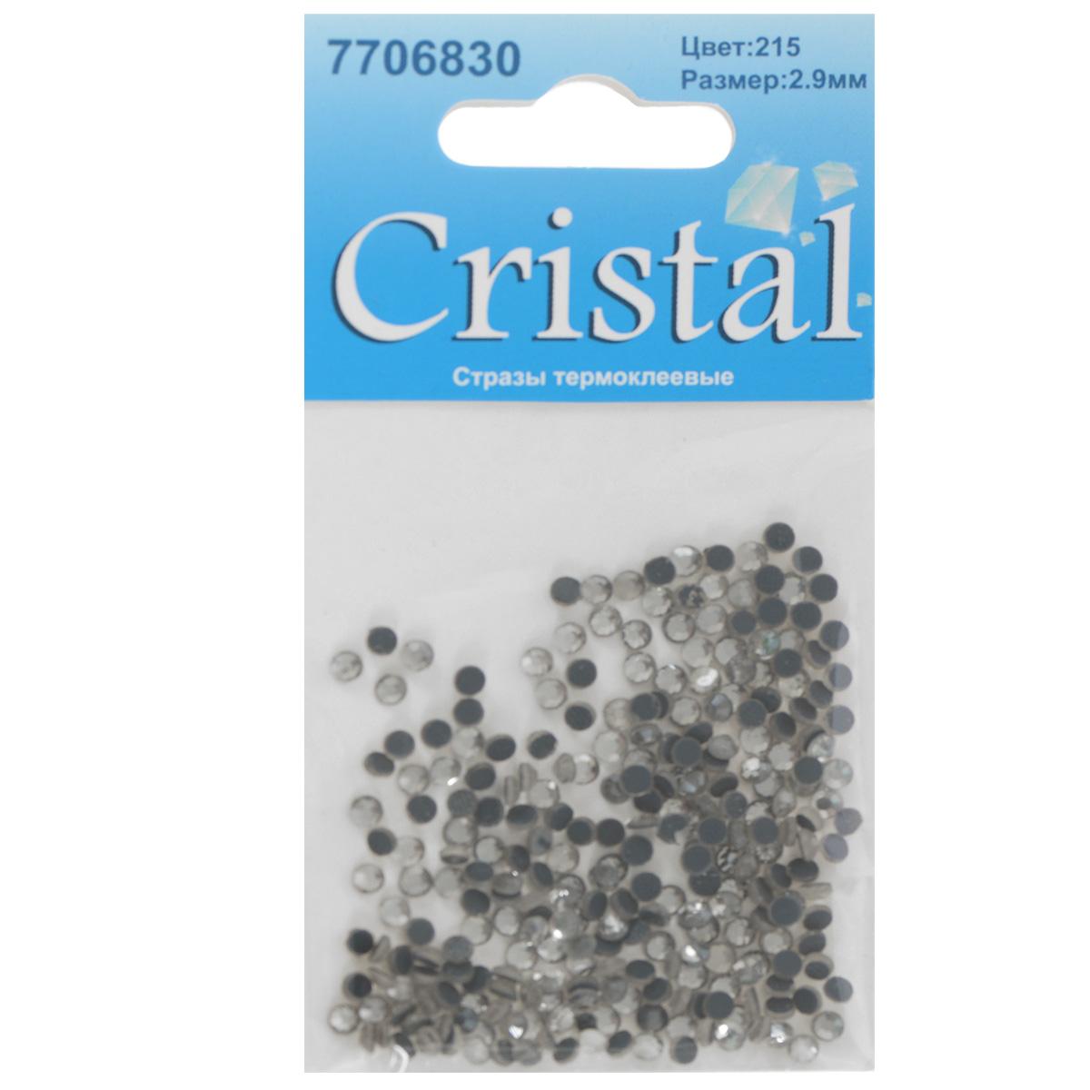 Стразы термоклеевые Cristal, цвет: белый (215), диаметр 2,9 мм, 288 шт7706830_215Набор термоклеевых страз Cristal, изготовленный из высококачественного акрила, позволит вам украсить одежду, аксессуары или текстиль. Яркие стразы имеют плоское дно и круглую поверхность с гранями.Дно термоклеевых страз уже обработано особым клеем, который под воздействием высоких температур начинает плавиться, приклеиваясь, таким образом, к требуемой поверхности. Чаще всего их используют в текстильной промышленности: стразы прикладывают к ткани и проглаживают утюгом с обратной стороны. Также можно использовать специальный паяльник. Украшение стразами поможет сделать любую вещь оригинальной и неповторимой. Диаметр страз: 2,9 мм.