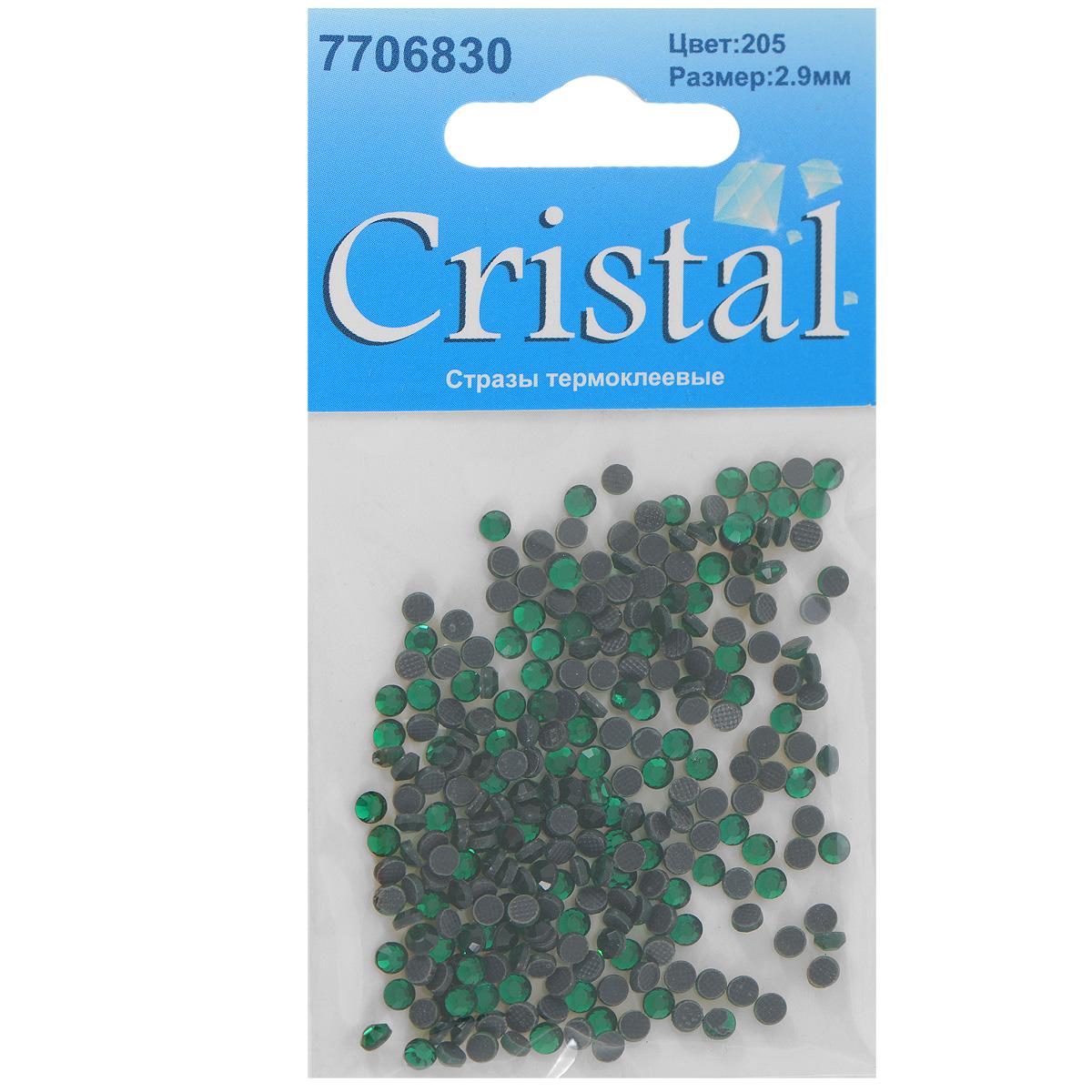 Стразы термоклеевые Cristal, цвет: зеленый (205), диаметр 2,9 мм, 288 шт7706830_205Набор термоклеевых страз Cristal, изготовленный из высококачественного акрила, позволит вам украсить одежду, аксессуары или текстиль. Яркие стразы имеют плоское дно и круглую поверхность с гранями.Дно термоклеевых страз уже обработано особым клеем, который под воздействием высоких температур начинает плавиться, приклеиваясь, таким образом, к требуемой поверхности. Чаще всего их используют в текстильной промышленности: стразы прикладывают к ткани и проглаживают утюгом с обратной стороны. Также можно использовать специальный паяльник. Украшение стразами поможет сделать любую вещь оригинальной и неповторимой. Диаметр страз: 2,9 мм.