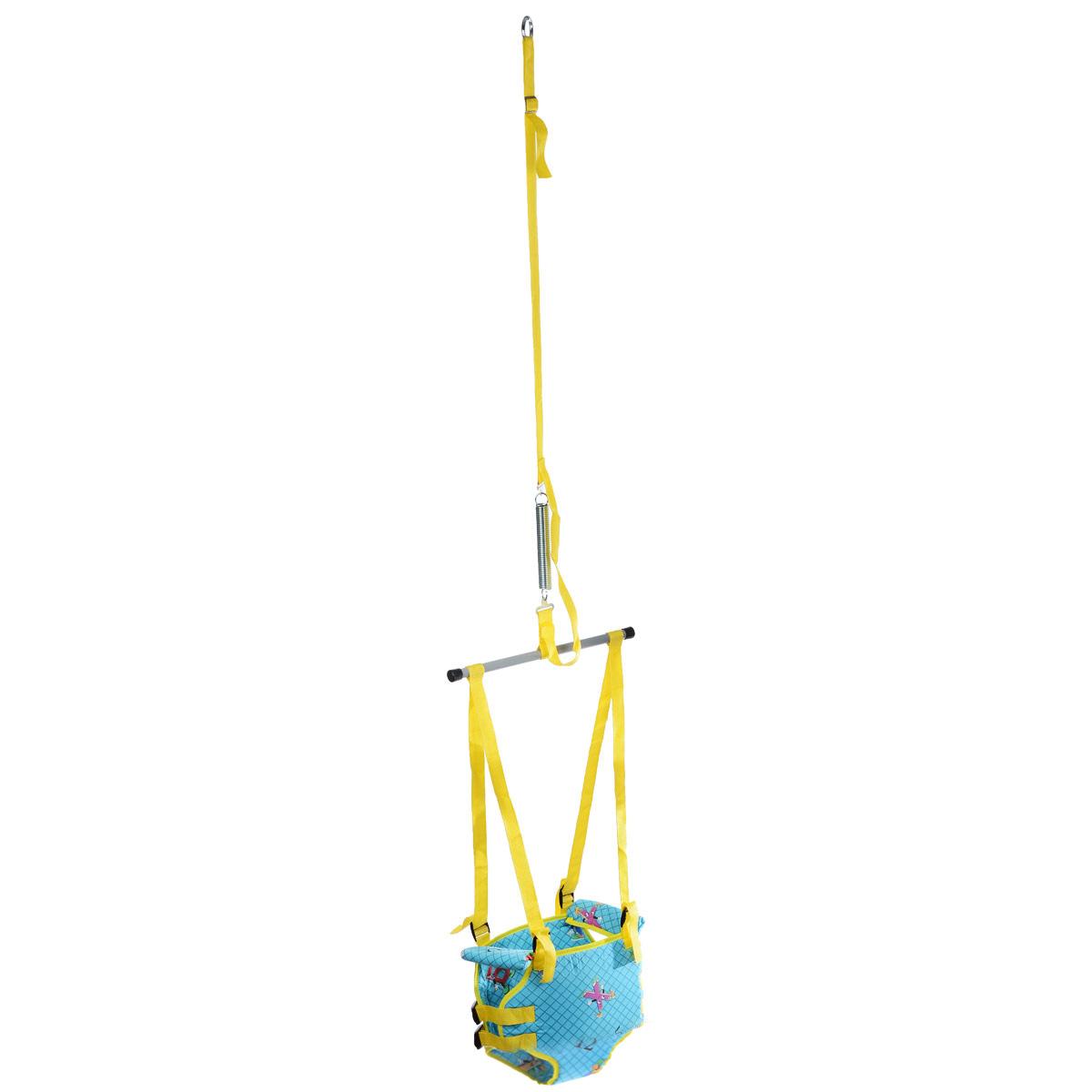 Тренажер Фея  Прыгунки 2 в 1 , цвет: голубой, желтый -  Ходунки, прыгунки, качалки