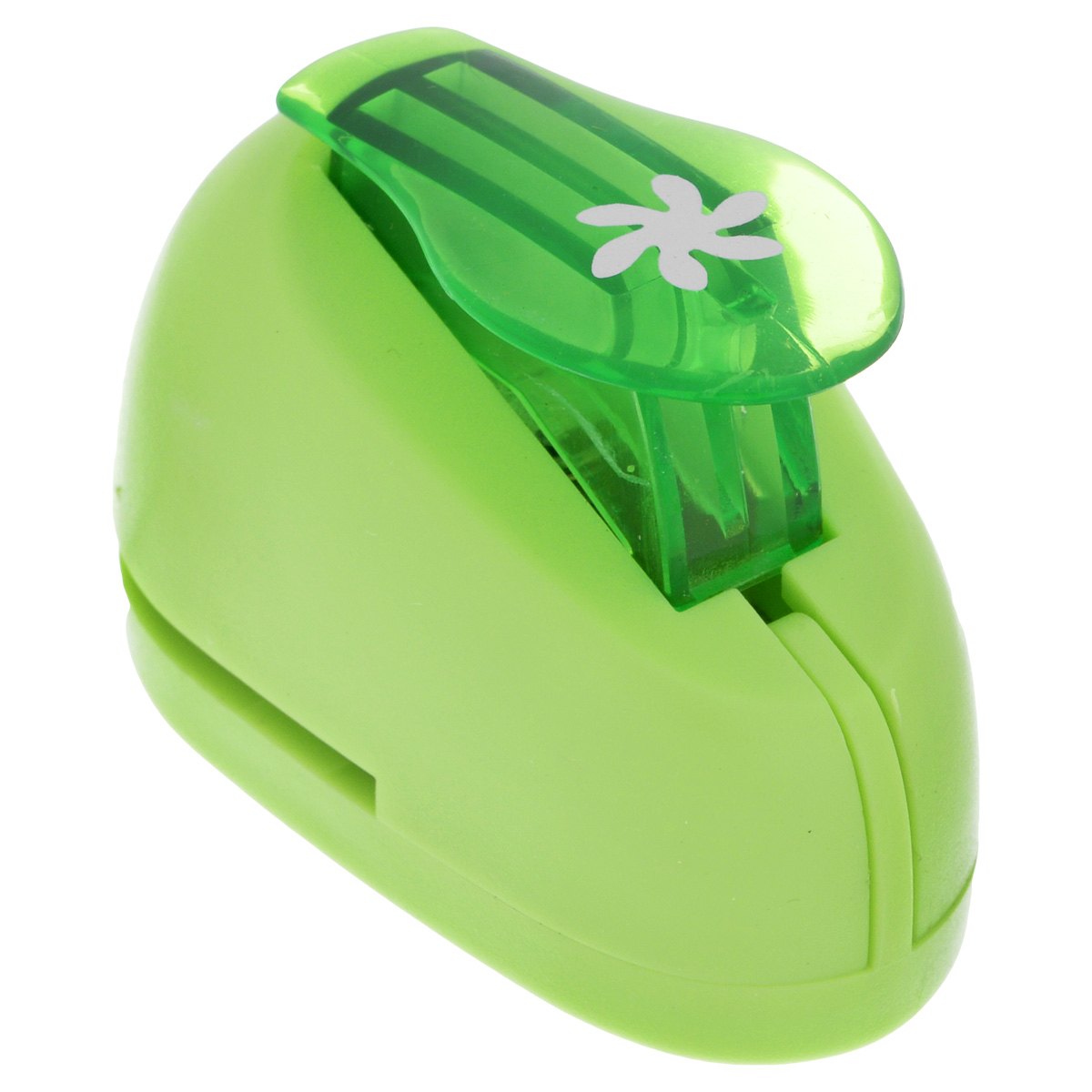 Дырокол фигурный Hobbyboom Цветок-завиток, цвет: зеленый, №255, диаметр 1 смCD-99XS-255 зеленыйФигурный дырокол Hobbyboom Цветок-завиток изготовлен из пластика и металла, используется в скрапбукинге для создания оригинальных открыток и фотоальбомов ручной работы, оформления подарков, в бумажном творчестве и другом. Рисунок прорези указан на ручке дырокола.Дырокол предназначен для вырезания фигурок из бумаги. Просто вставьте лист бумаги в дырокол. Нажмите на рычаг. Вырезанную фигурку в виде кружочка можно использовать для дальнейшего декорирования.Предназначен для бумаги определенной плотности - 80 - 200 г/м2. При применении на бумаге большей плотности или на картоне, дырокол быстро затупится. Размер дырокола: 5 см х 3 см х 3,5 см. Диаметр готовой фигурки: 1 см.