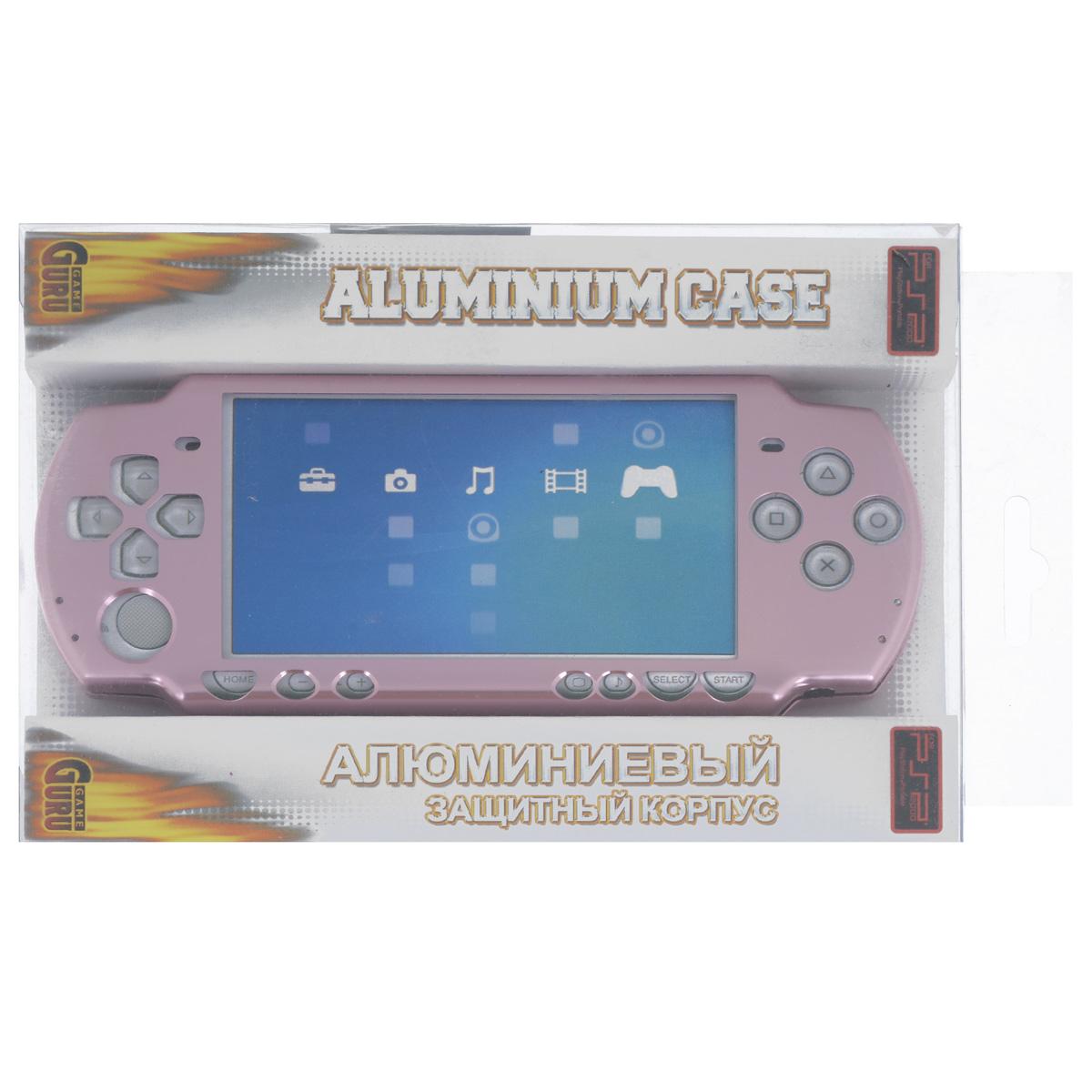 Алюминиевый защитный корпус Game Guru для Sony PSP 2000/3000 (розовый) for sony sony psp 2000 3000 for psp 2000 3000