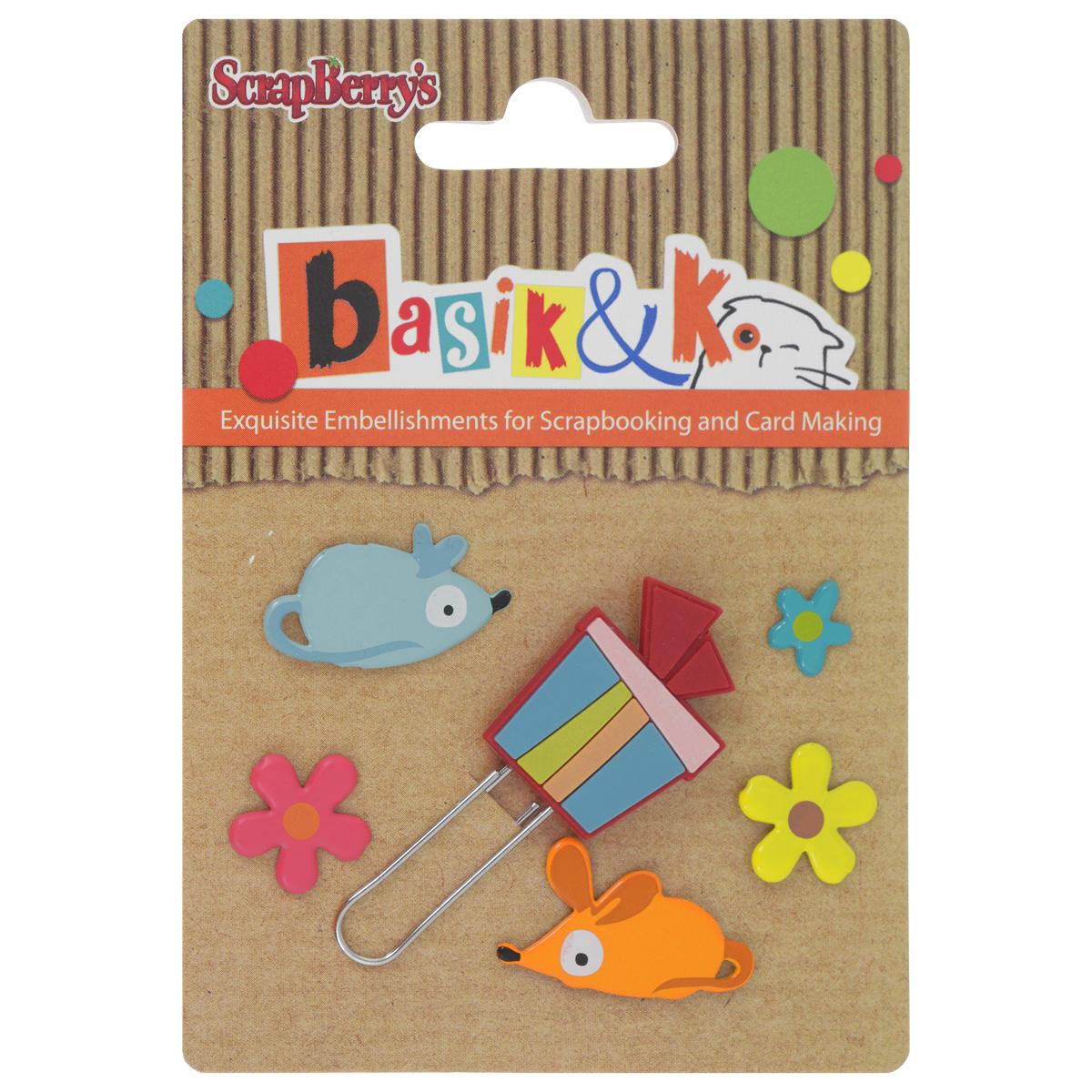 Набор брадсов Basik & K Кошки-мышки, 6 штSCB340944Брадсы Basik & K Кошки-мышки изготовлены из металла и резины. В наборе представлены брадсы различных размеров, форм и цветов. Такой набор прекрасно подойдет для декора и оформления творческих работ в различных техниках, таких как скрапбукинг, шитье, декор, изготовление бижутерии и многого другого. Брадсы разнообразят вашу работу и добавят вдохновения для новых идей.Размер самого большого брадса: 2,5 см х 2 см.Диаметр самого маленького брадса: 0,9 см.